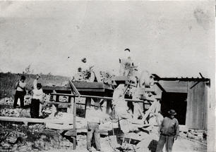 A rock crusher was used to prepare lava, limestone and coral to make cement for building the Laie temple.