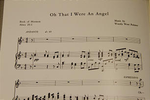 Oh That I were an Angel sheet music.