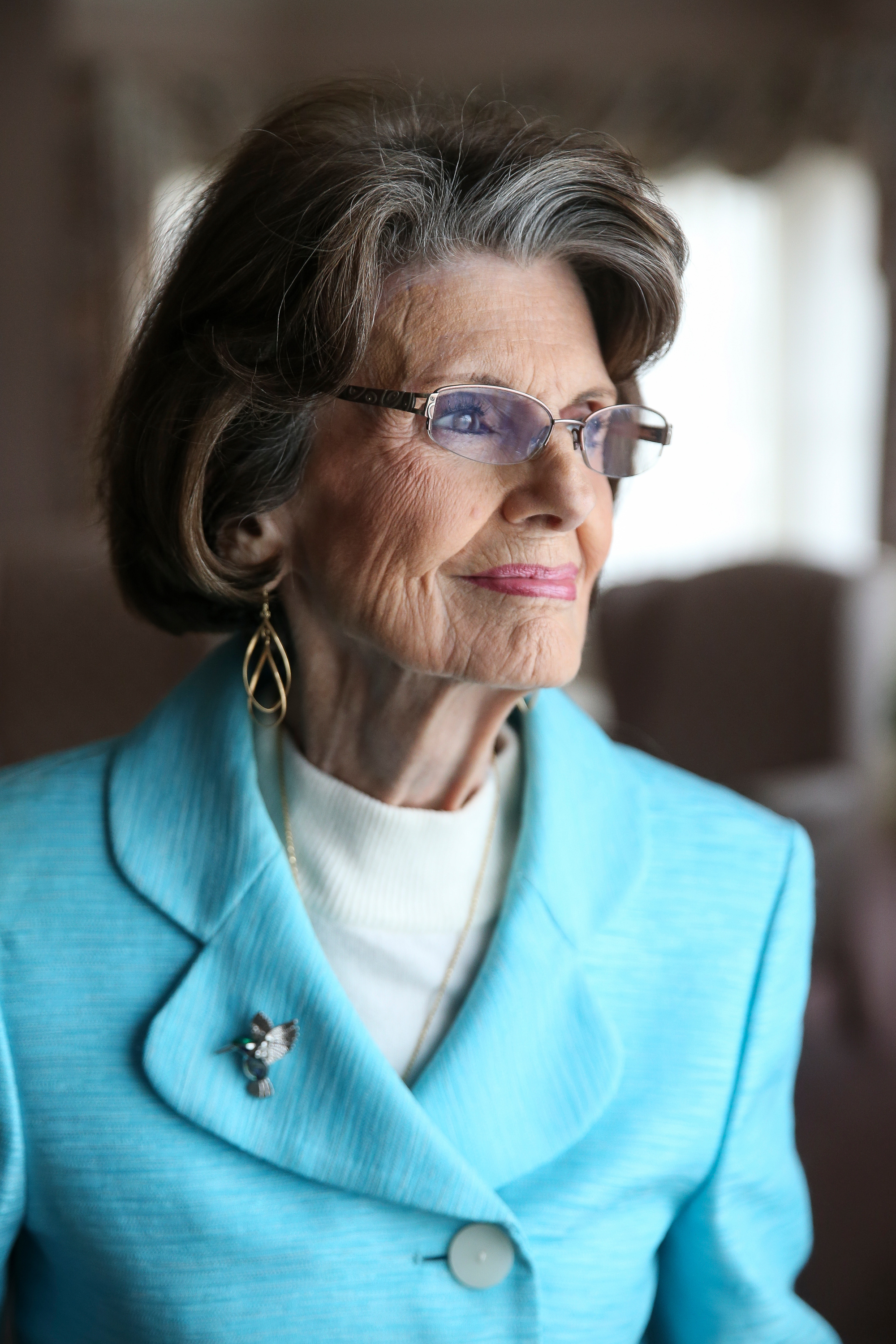 Former LDS Young Women General President Ardeth G. Kapp poses for a photo at her home in Bountiful on Thursday, Jan. 11, 2018.