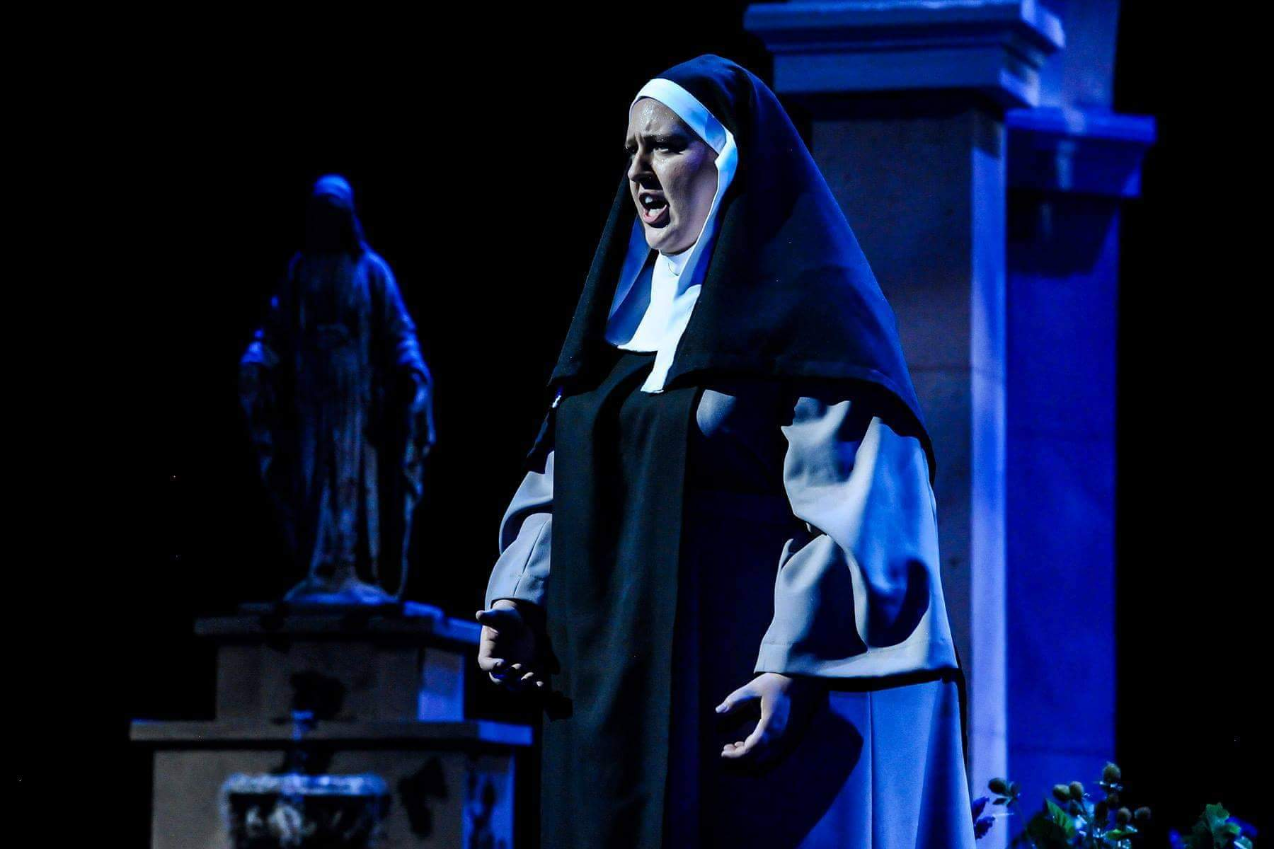 """Mary Hoskins performs in a scene from the opera """"Suor Angelica"""" at Brigham Young University."""