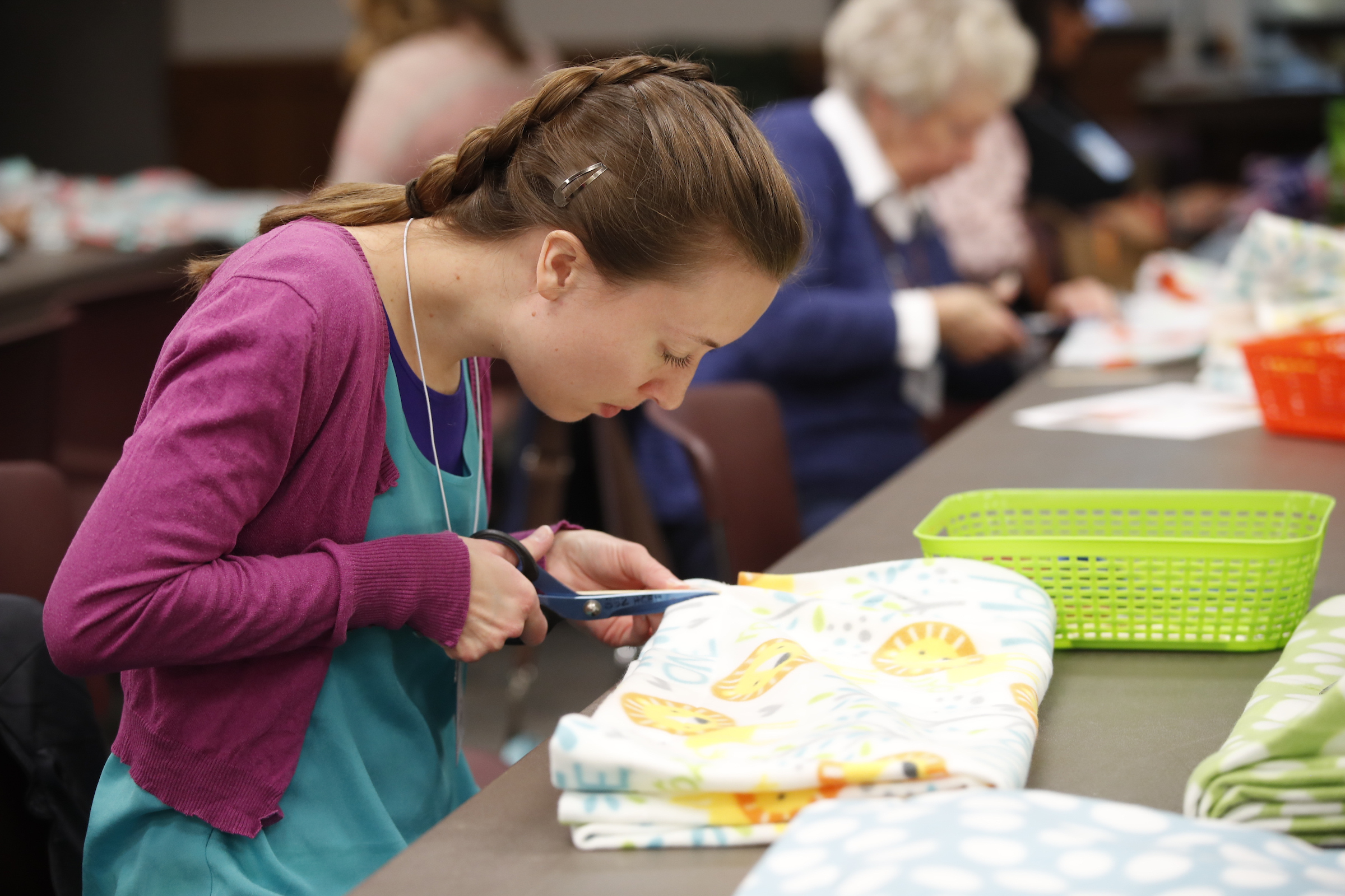 "Participants worked on a variety of ""take, make and return,"" service projects during the BYU Women's Conference held on the Provo campus on May 3-4."