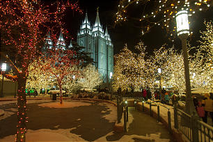 Temple Square during Eve Monday, Dec. 31, 2012.