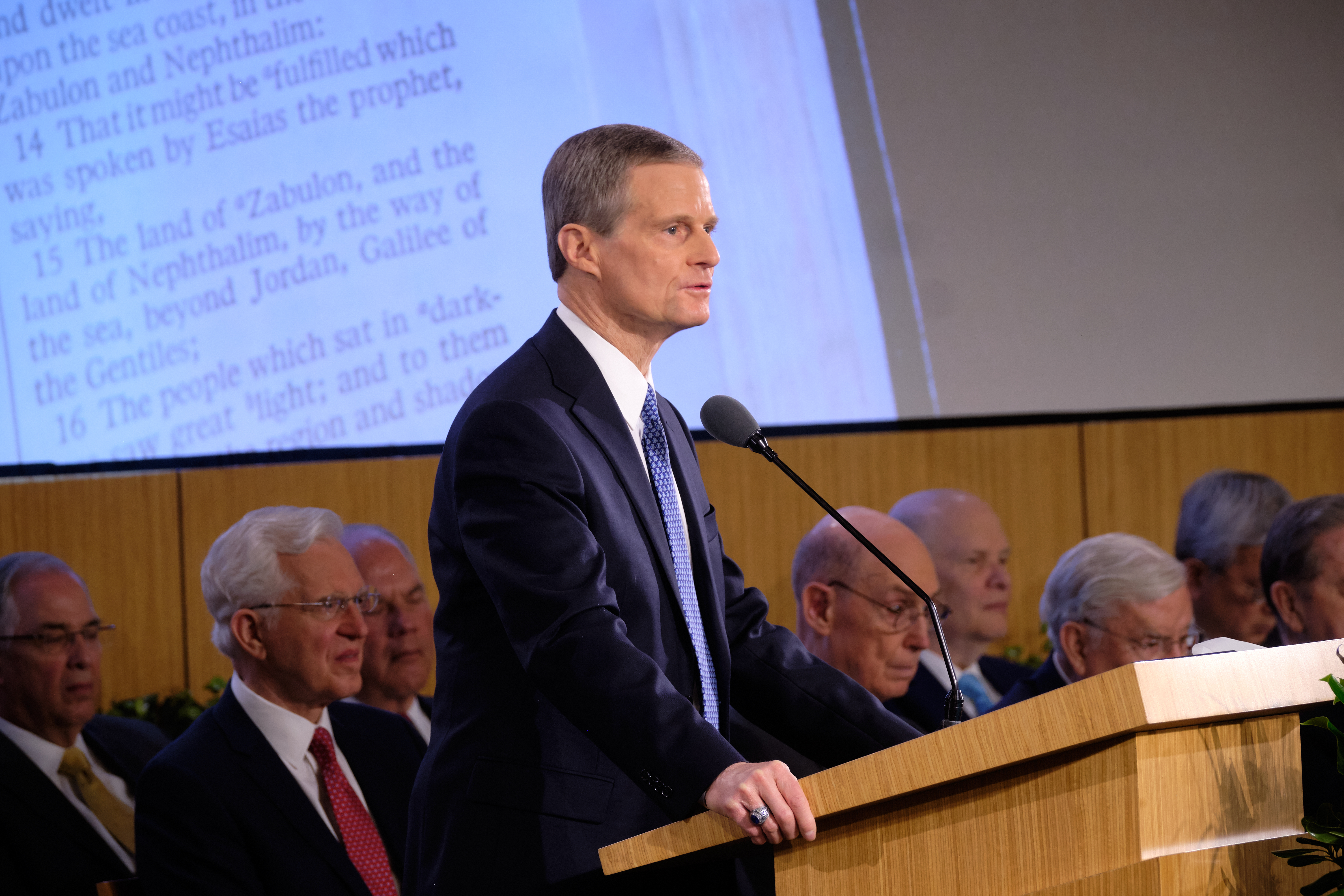 Elder David A. Bednar of the Quorum of the Twelve Apostles speaks during the 2019 Mission Leadership Seminar in the Provo Missionary Training Center on June 27, 2019.
