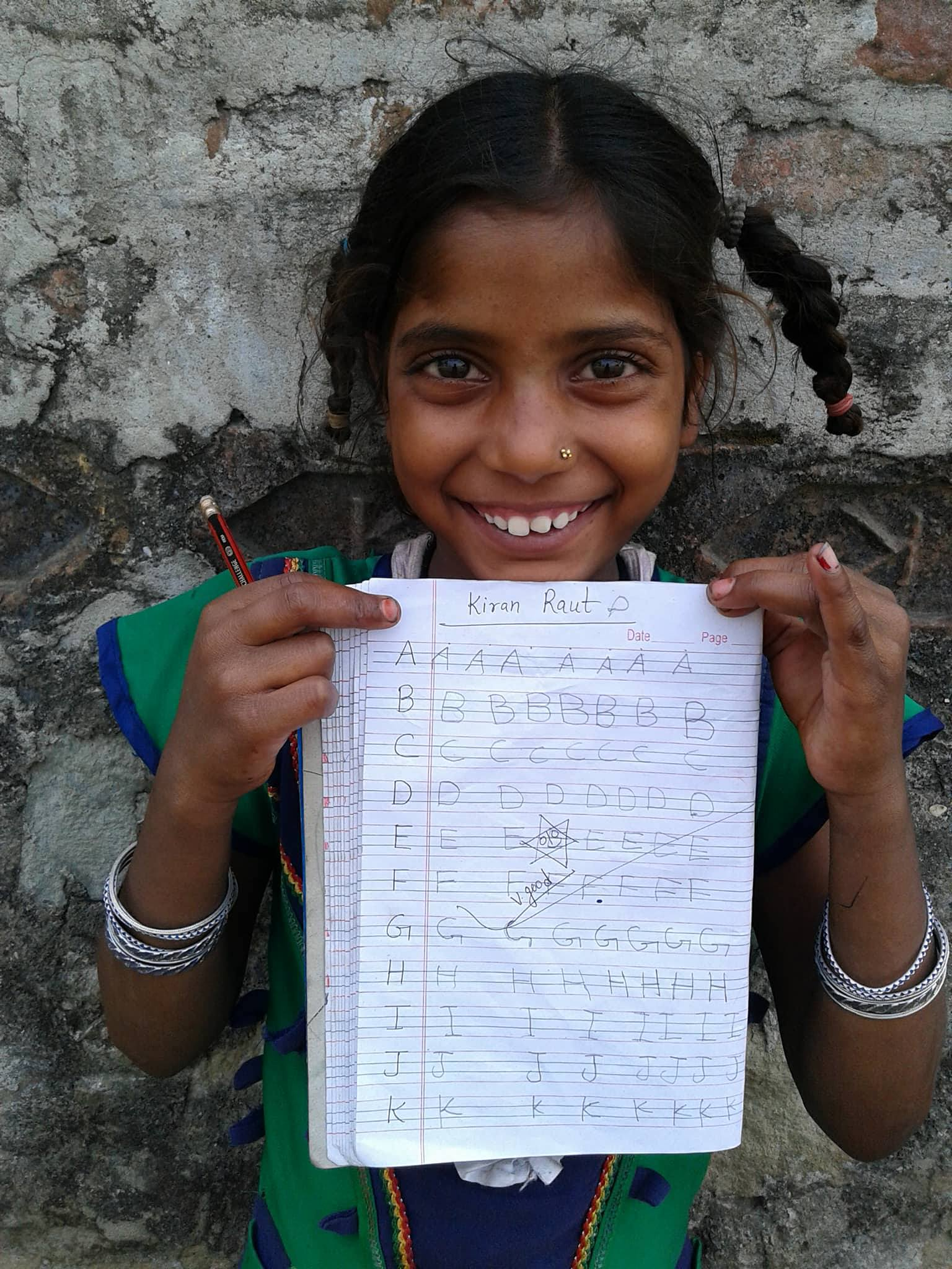 Children from the slums are not often provided with opportunities or funding for education without help from resources outside their families.
