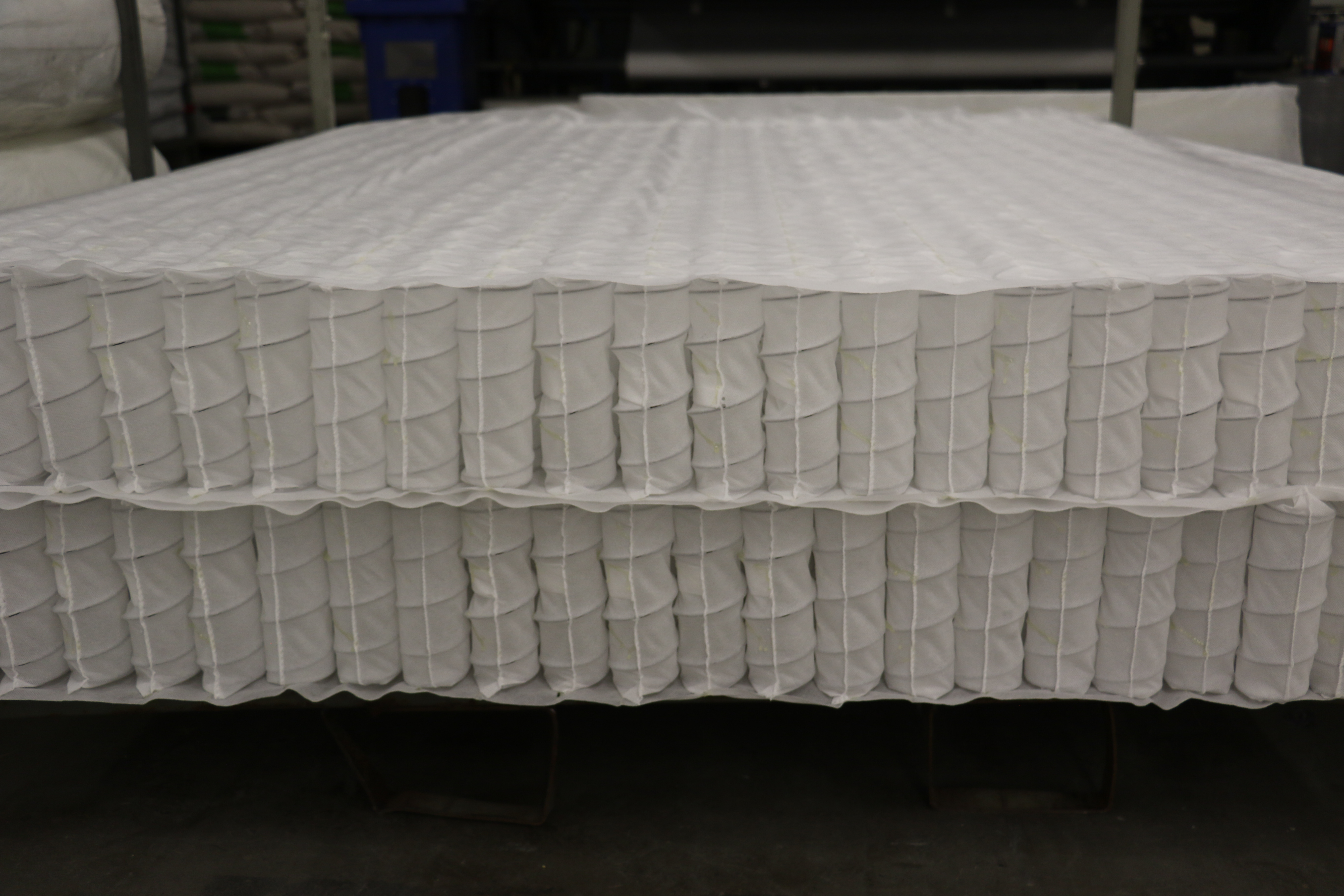 The inner springs of a mattress made at the Deseret Manufacturing facility in Salt Lake City, Utah.
