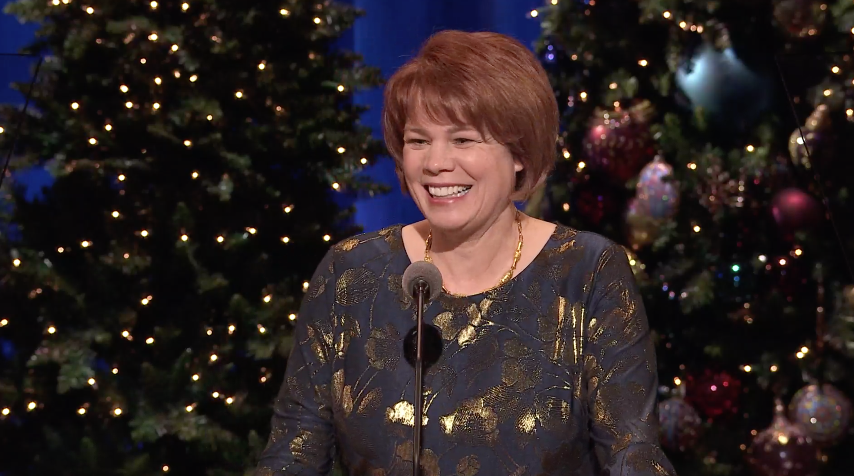 Sister Sharon Eubank gives an address during the First Presidency's Christmas Devotional on Dec. 2, 2018.