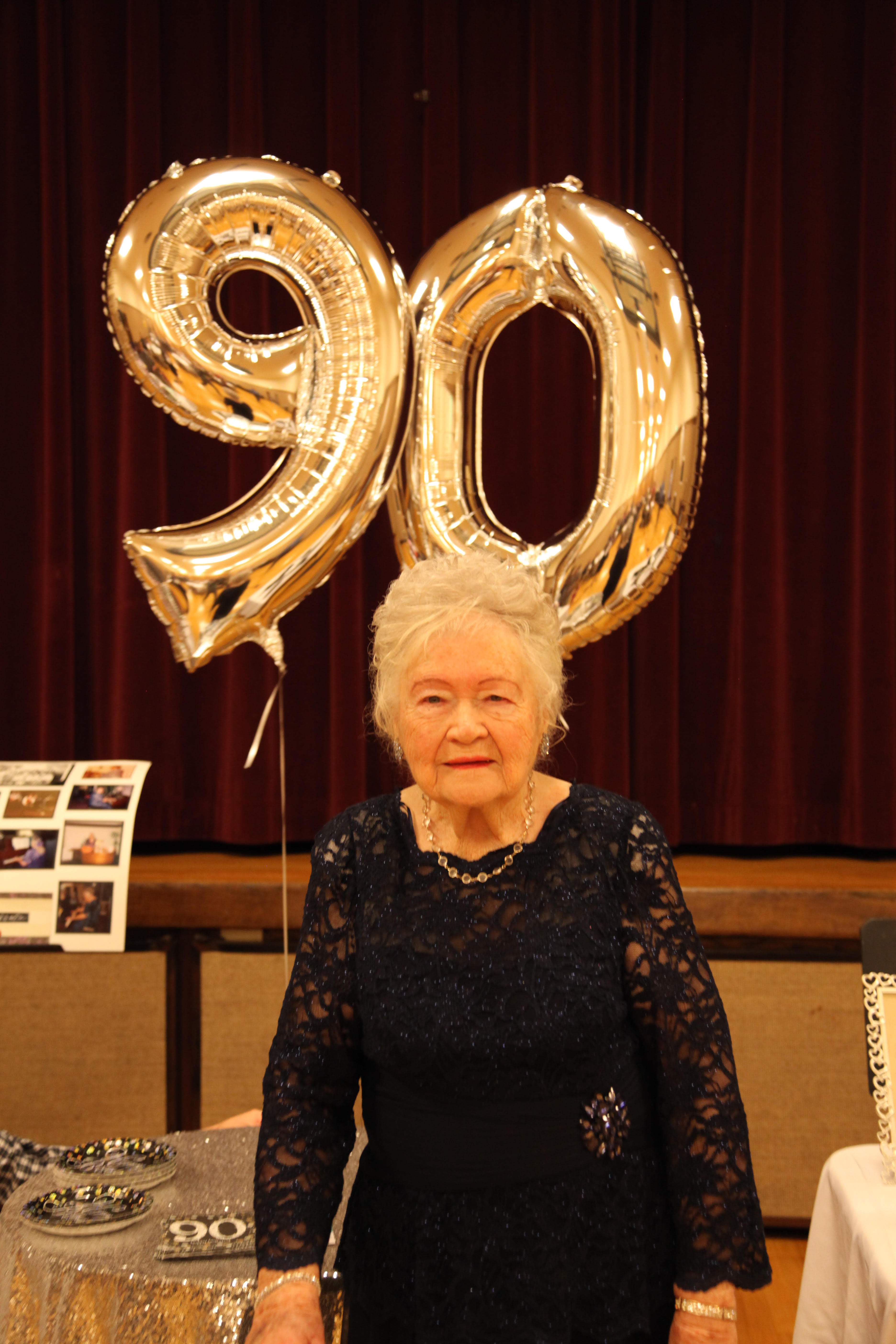 Gay Goaslind at her 90th birthday party on Jan. 14, 2019.