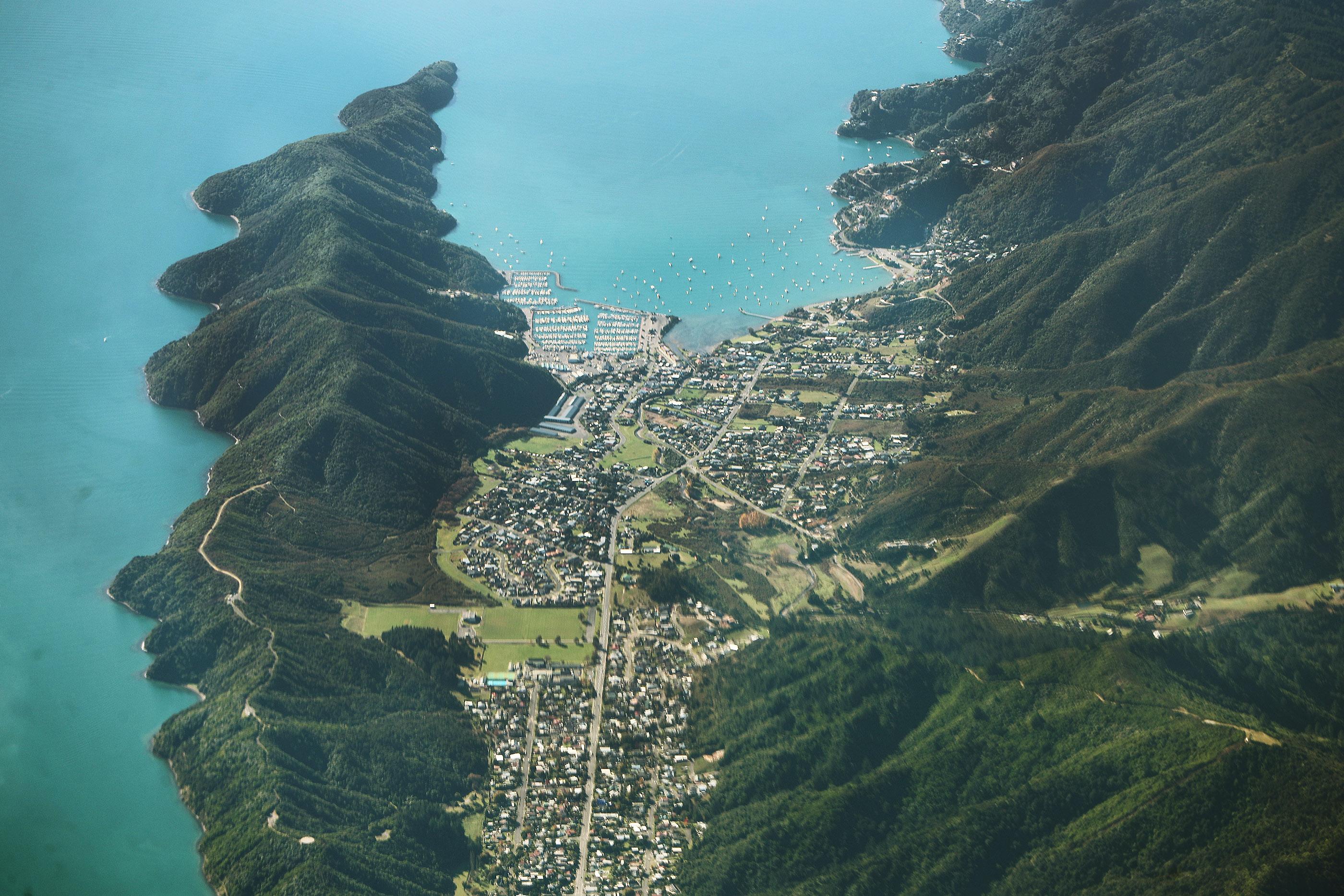 A coastal community in Wellington, New Zealand, on Monday, May 20, 2019.