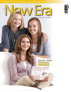 The September issue of The New Era features two different covers. One features young men and one features young women of the Church.