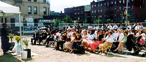 More than 150 members and civic dignitaries attend groundbreaking for new meetinghouse in Harlem, N.Y.