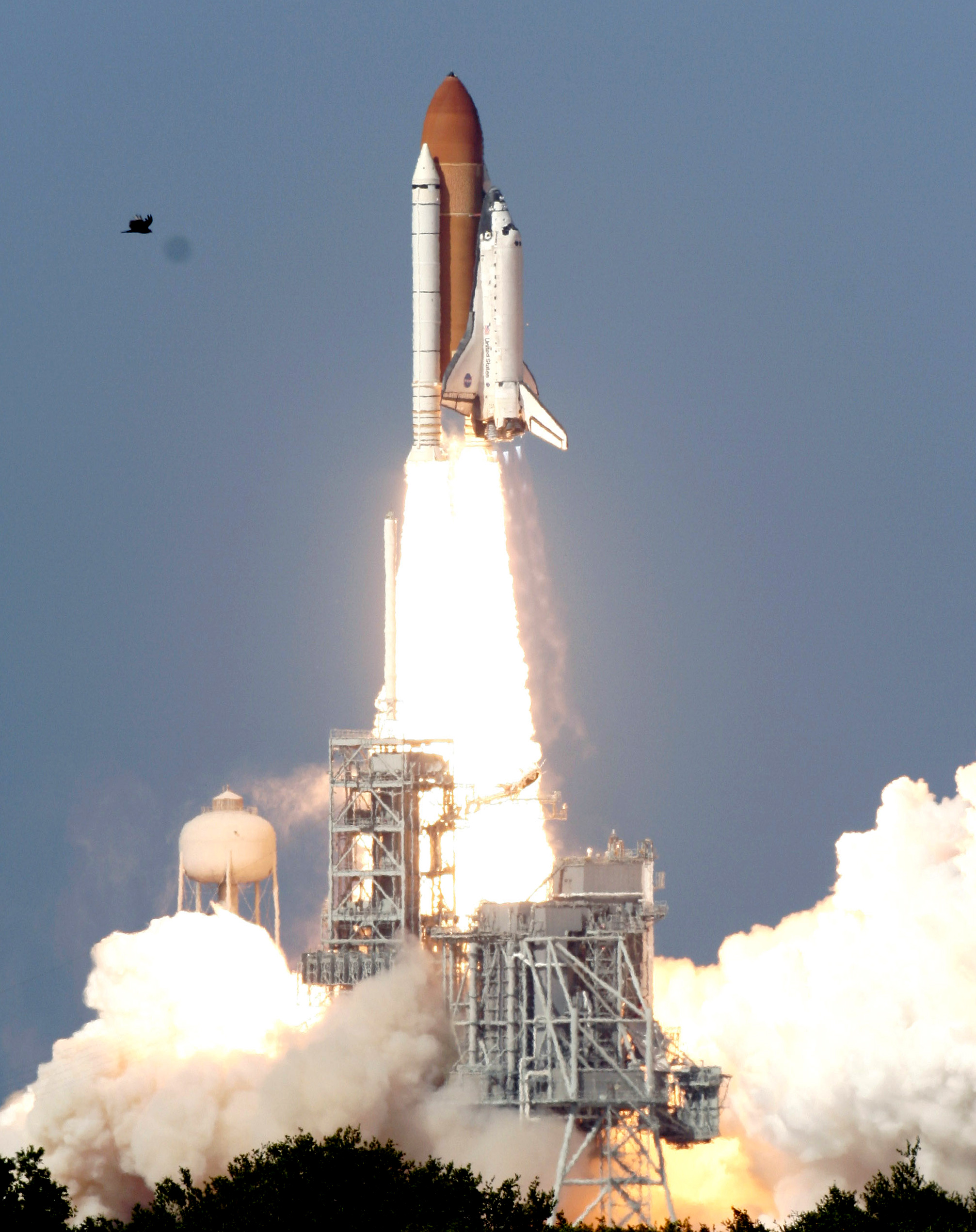 The Space Shuttle Discovery lifts off at the Kennedy Space Center in Cape Canaveral, Fla. on Saturday, May 31, 2008. The shuttle's trip to the international space station should take two days.