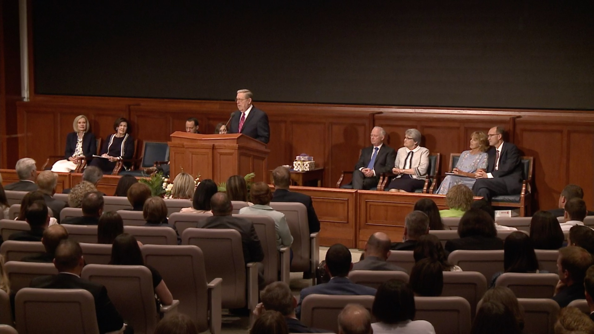 Elder Jeffrey R. Holland of the Quorum of the Twelve Apostles speaks during the Seminaries and Institutes Annual Training Broadcast on June 12, 2019.