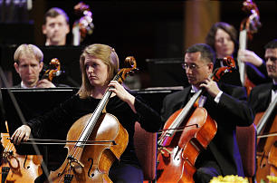 The Orchestra at Temple Square perform A Night in Vienna at the Tabernacle in Salt Lake City Friday, Oct. 26, 2012.