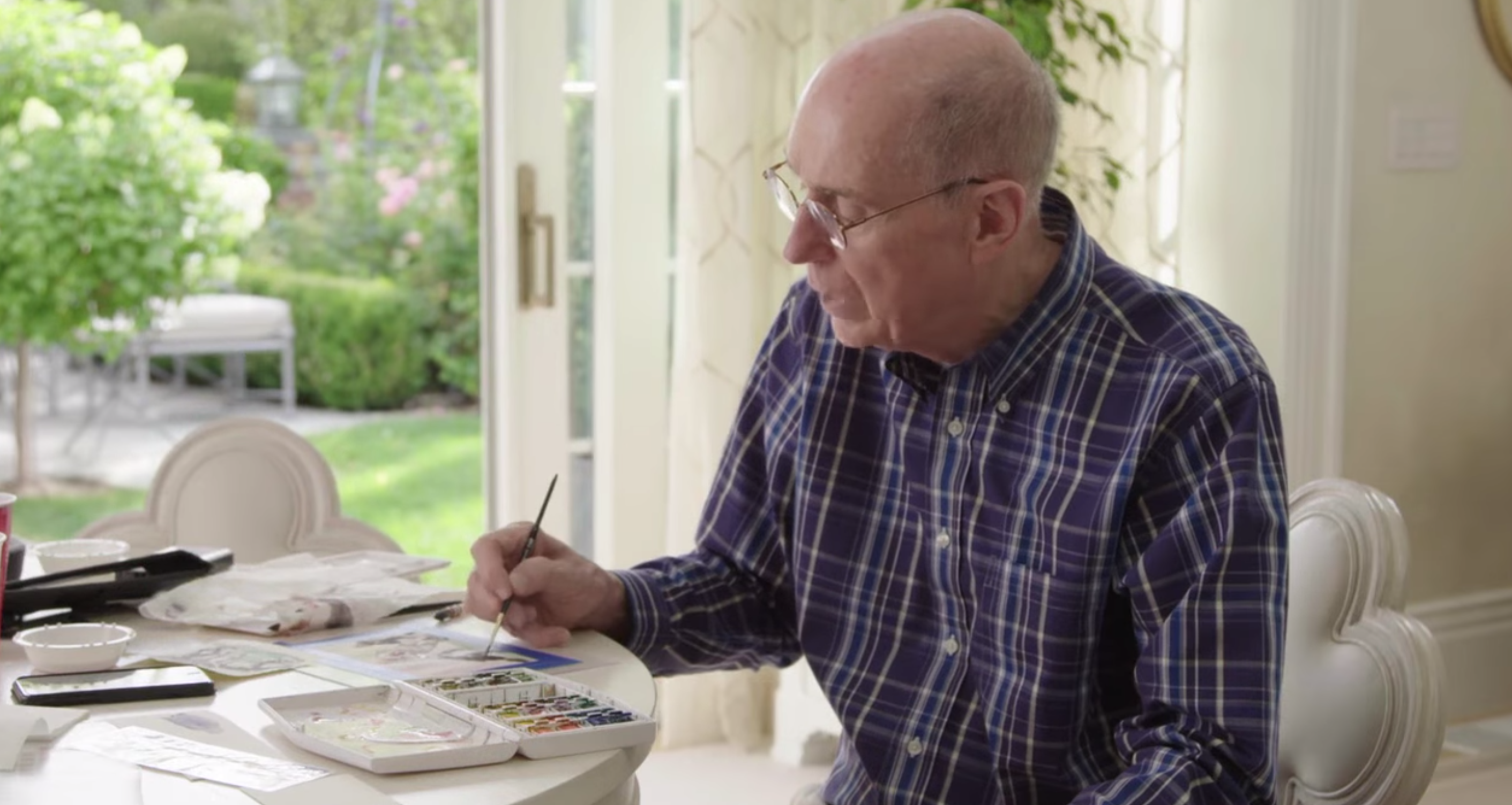 President Eyring talks about his love for watercolor in a video posted on Facebook on Nov. 8, 2018.