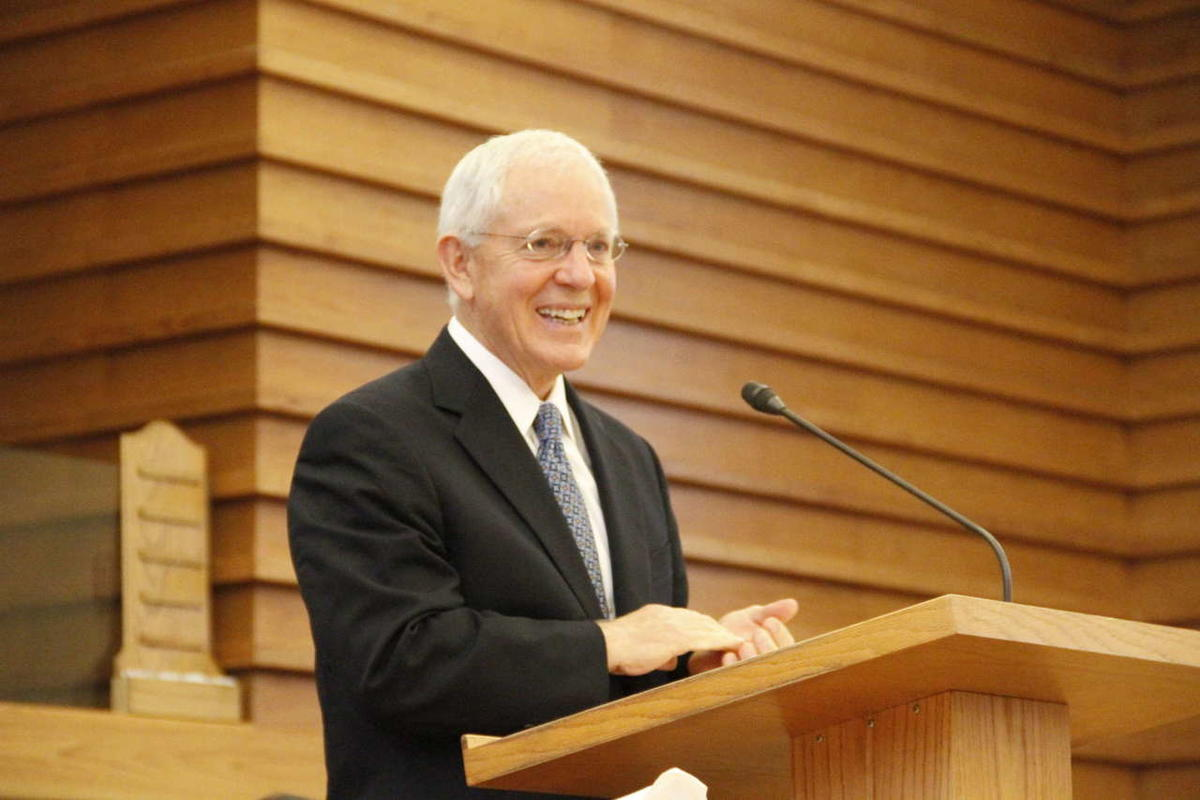 Elder Marlin K. Jensen at a devotional of the Mormon History Association Conference in 2012.