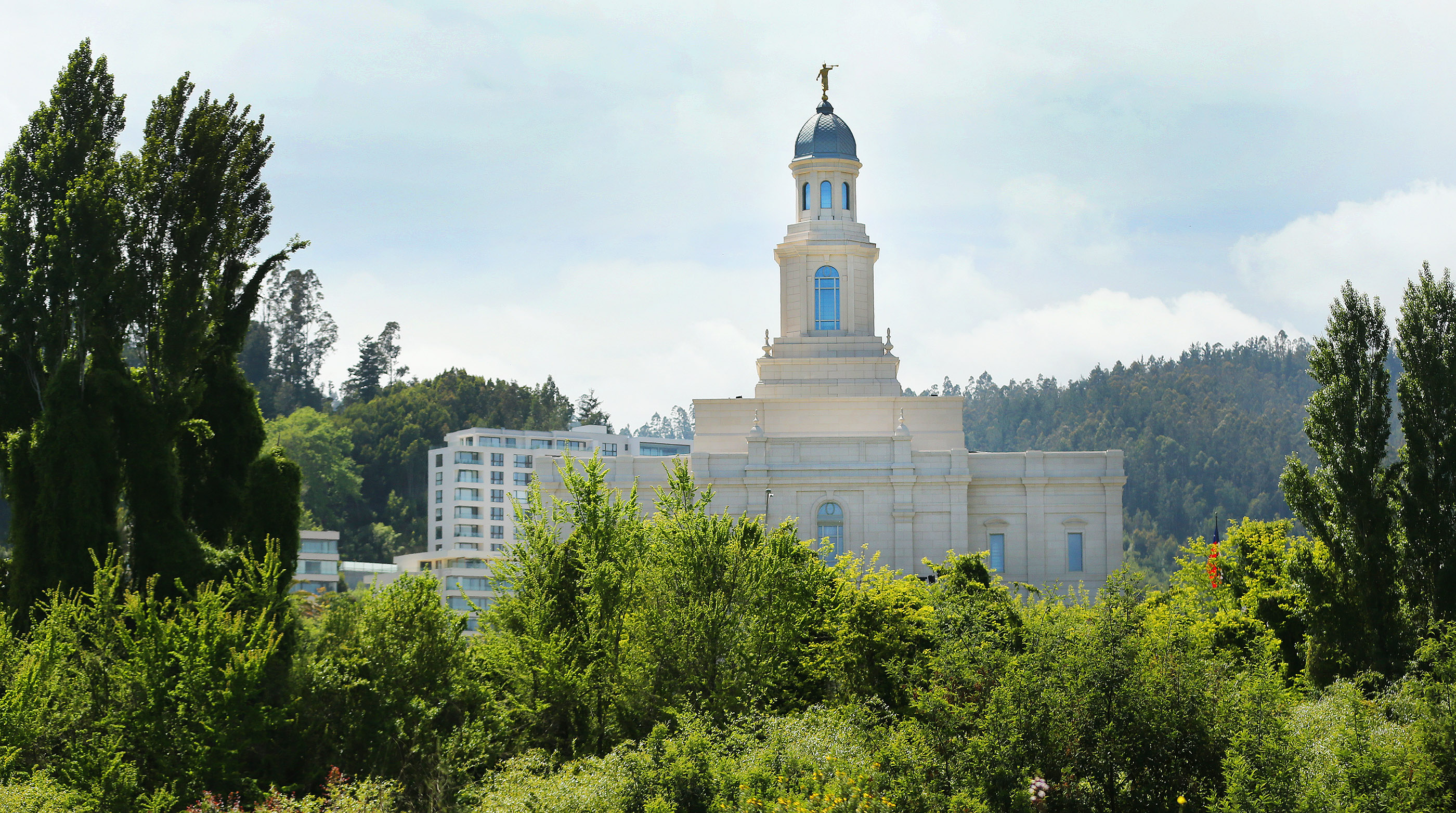 Preparations of completed for dedication of the LDS Temple in Concepcion, Chili on Saturday, Oct. 27, 2018.