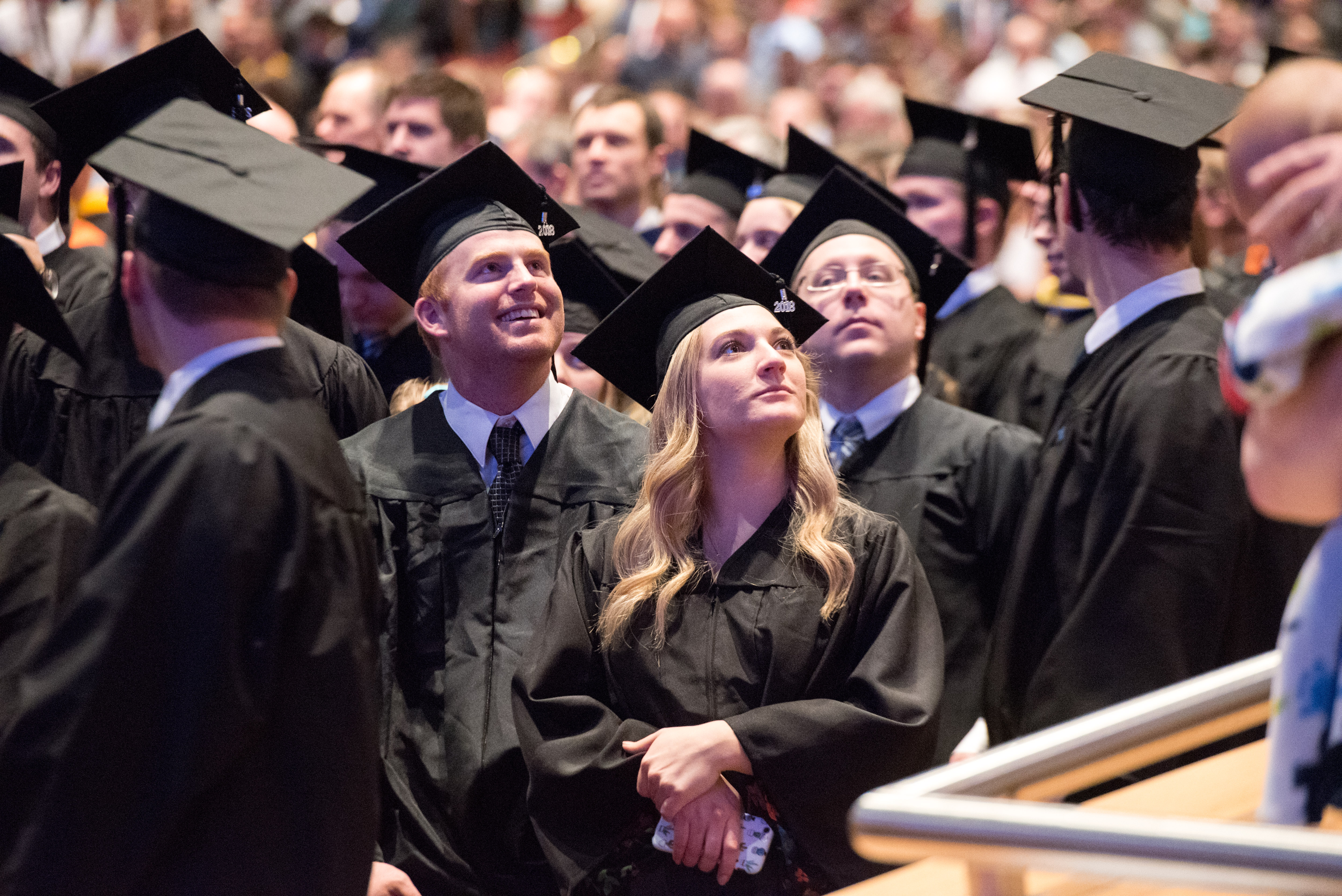 BYU-Idaho graduates gather in the BYU-Idaho Center for commencement on Dec. 19, 2018.