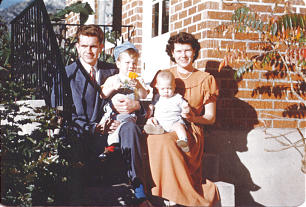 Boyk K. Packer family photo. Packers with sons Allan and Kenneth.