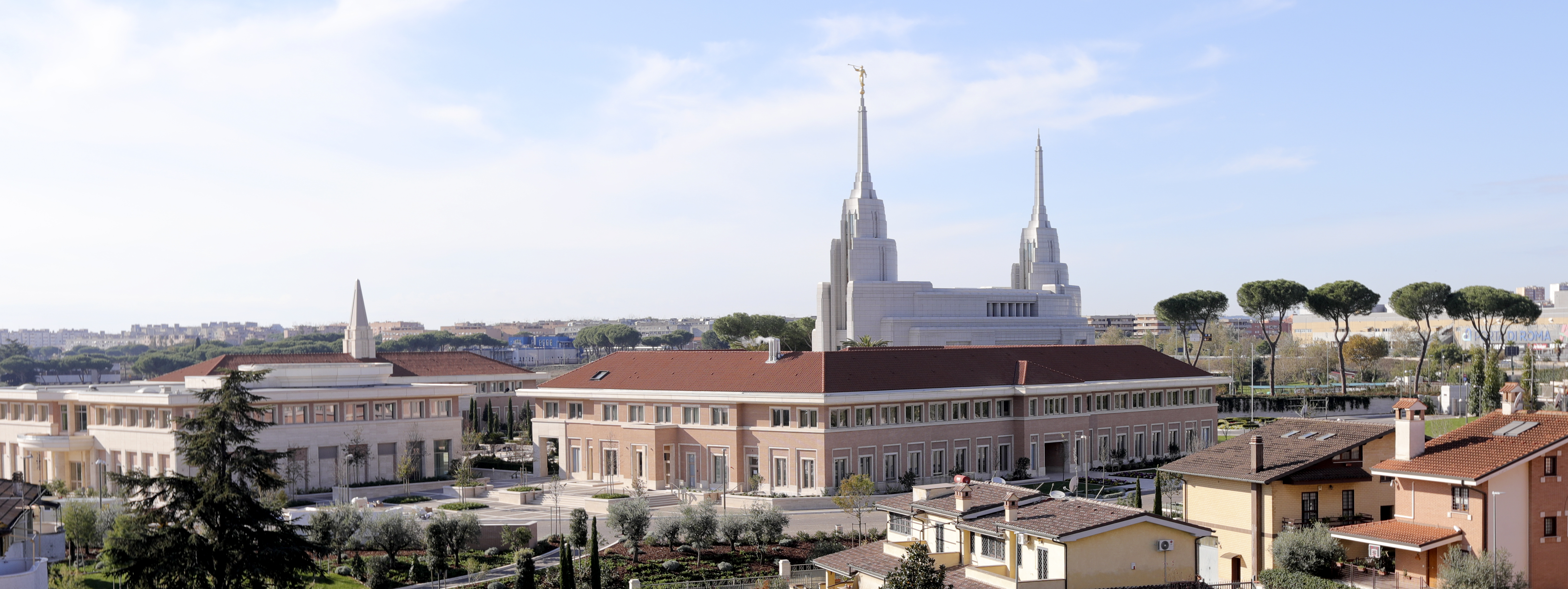 View of the Rome Temple from the Salerno's apartment in Rome, Italy, on Sunday, Nov. 18, 2018.