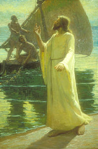"""""""Come Follow Me,"""" portrays the calling of Peter by artist J.T. Harwood."""