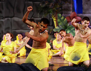 Dancers participate in the final dress rehearsal for the LDS progarm, Luz de las Naciones (Light of the Nations) at the LDS conference center in Salt Lake City Thursday, Oct. 25, 2012