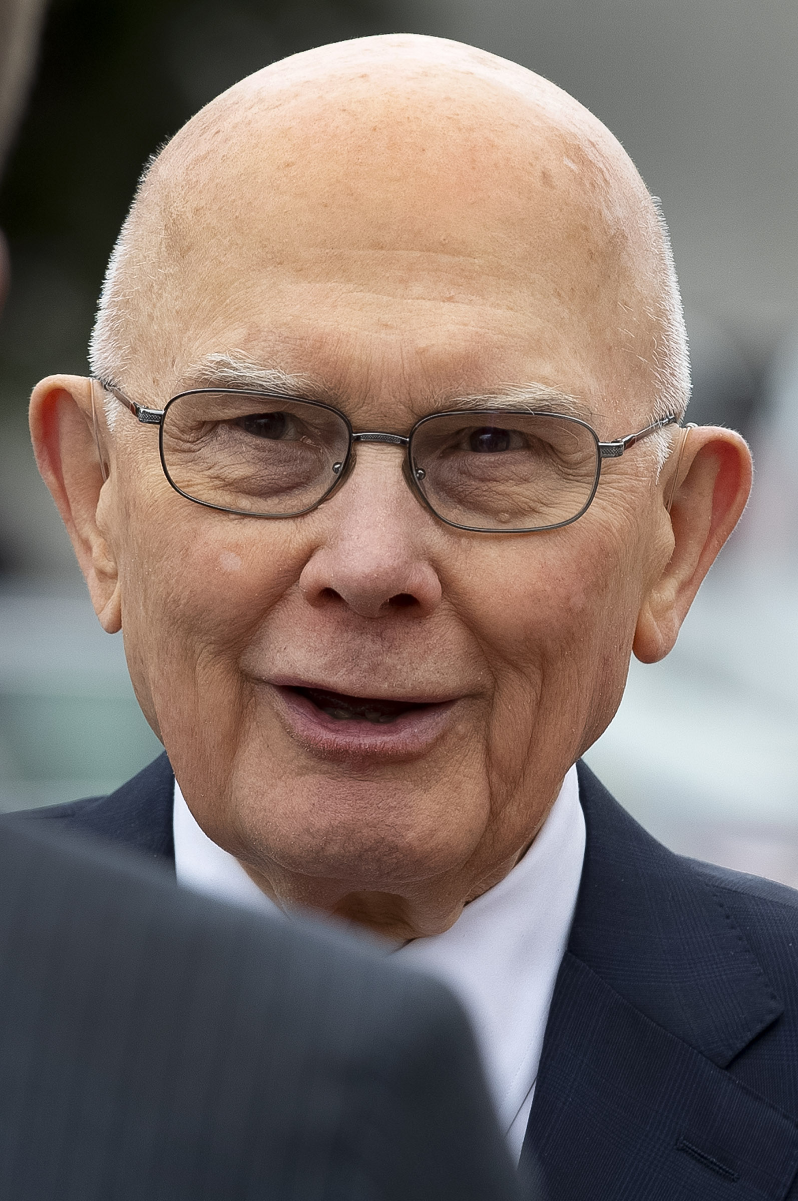 President Dallin H. Oaks, first counselor in the First Presidency, talks about the beauty of the Oakland California Temple following a walk-through on Saturday, June 15, 2019.
