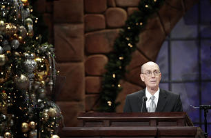 President Henry B. Eyring speaks during the annual First Presidency Devotional in the LDS Conference Center Sunday, Dec. 6, 2009.