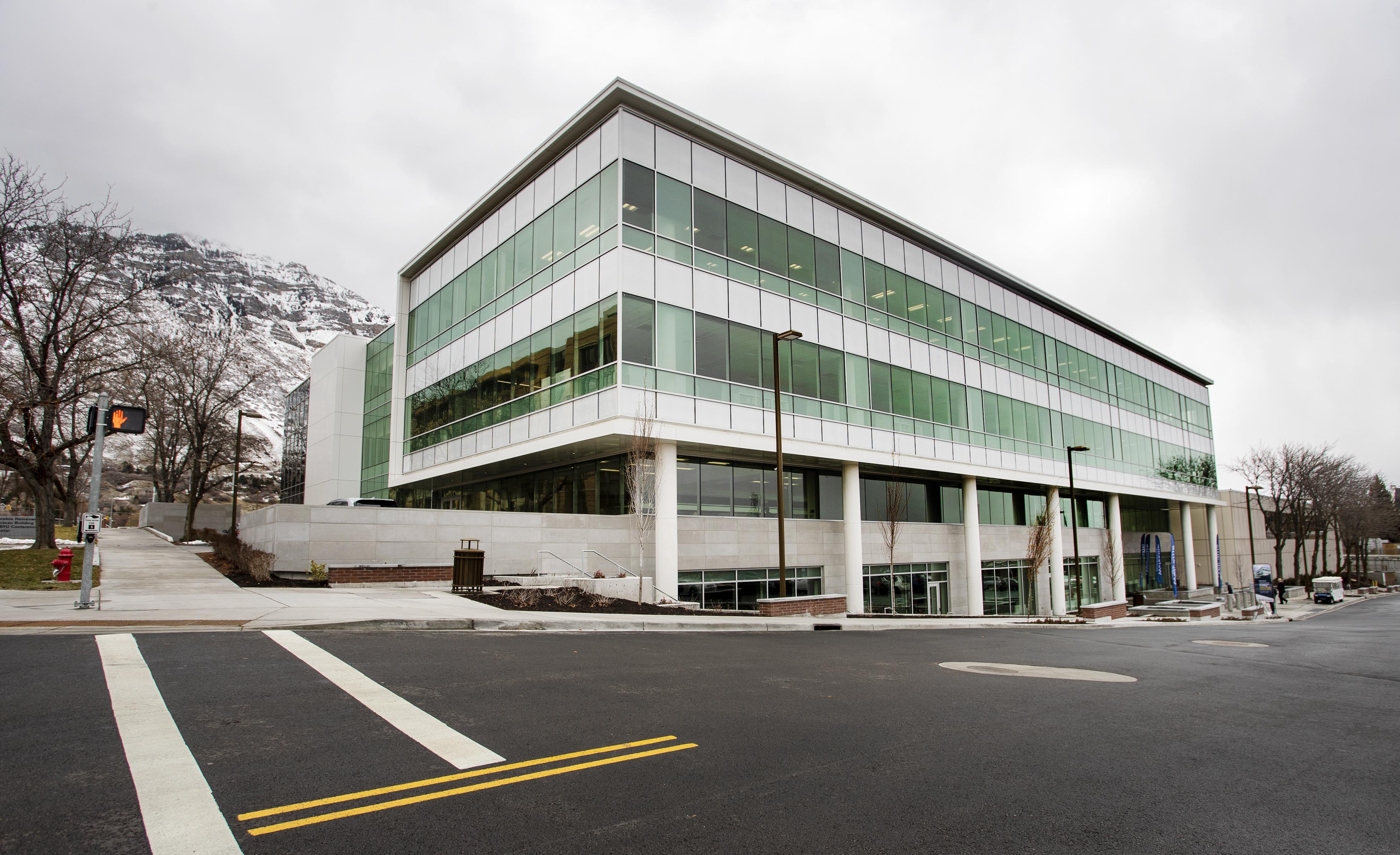 The Caroline Hemenway Harman Building at BYU in Provo, Utah, on Tuesday, Feb. 5, 2019.