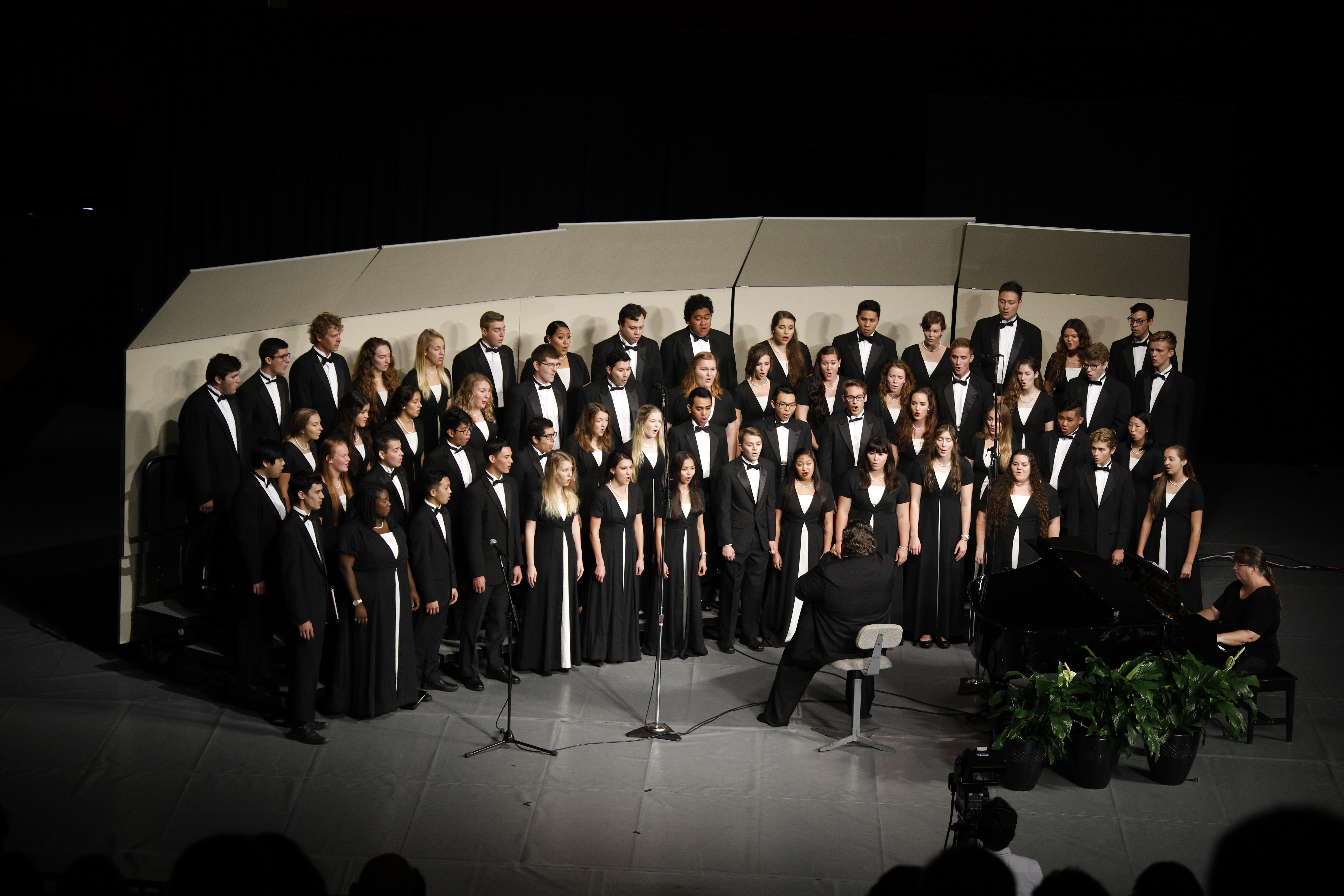 A choir performs prior to Elder Quentin L. Cook, of the Quorum of the Twelve Apostles, speaking during a campus devotional at BYU-Hawaii on Nov. 20.