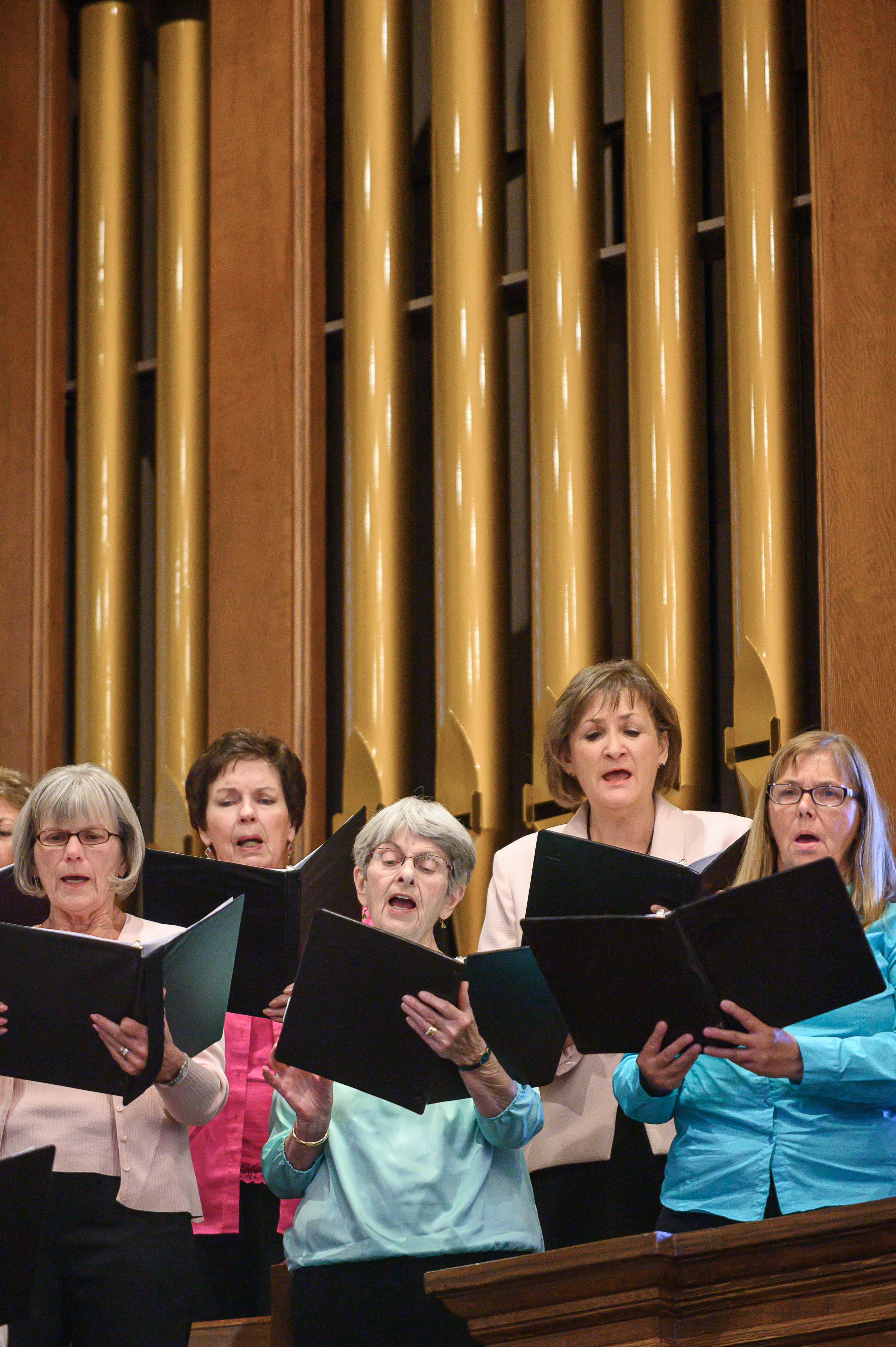 "Members of the Interfaith Choir sing Beethoven's ""Hallelujah"" near the conclusion of the Historic Interfaith Tribute at the St. George Tabernacle in St. George, Utah on Thursday, May 2, 2019."