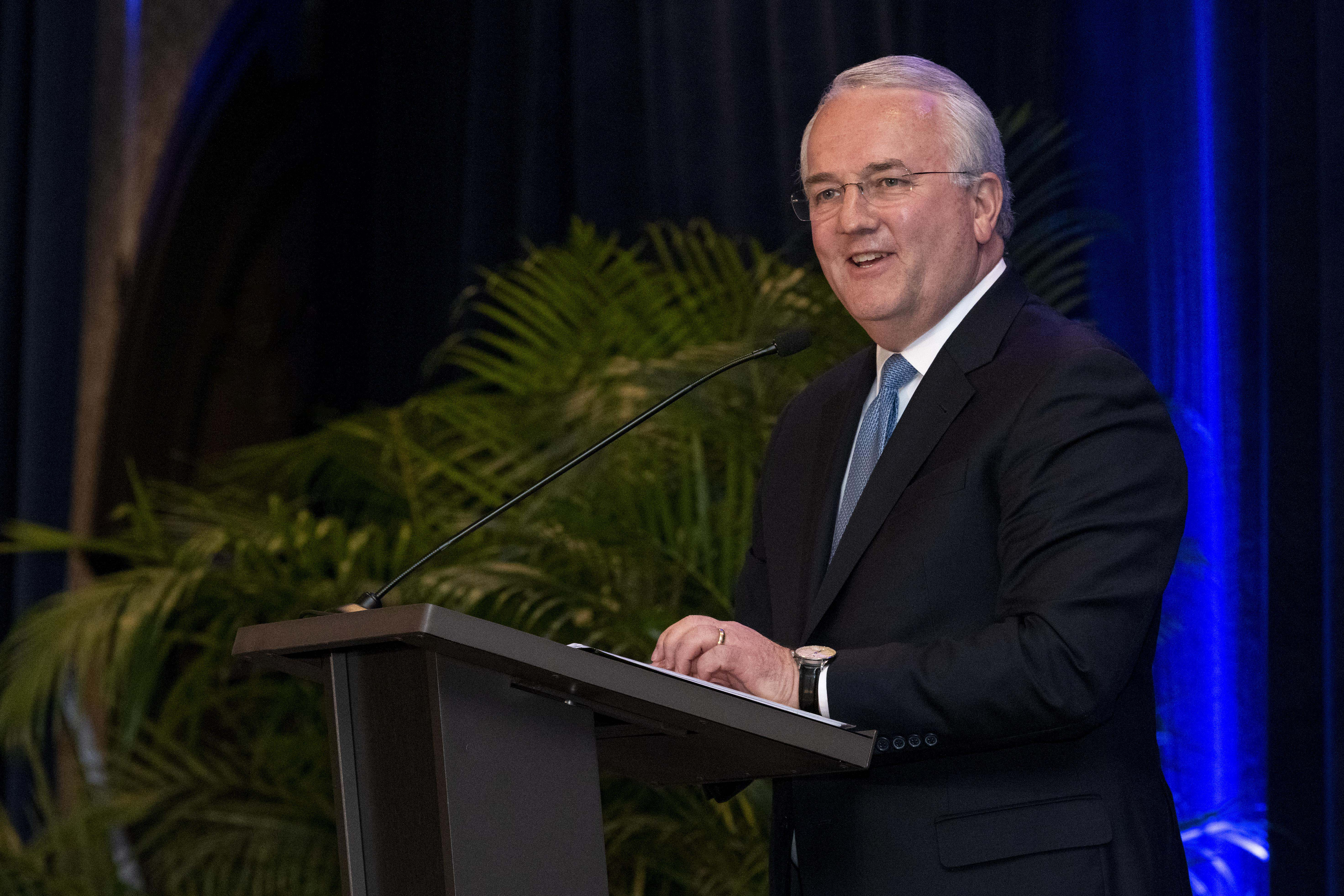 Elder Jack N. Gerard, General Authority Seventy, gives remarks at the BYU Management Society event in Washington, D.C., May 11, 2019.