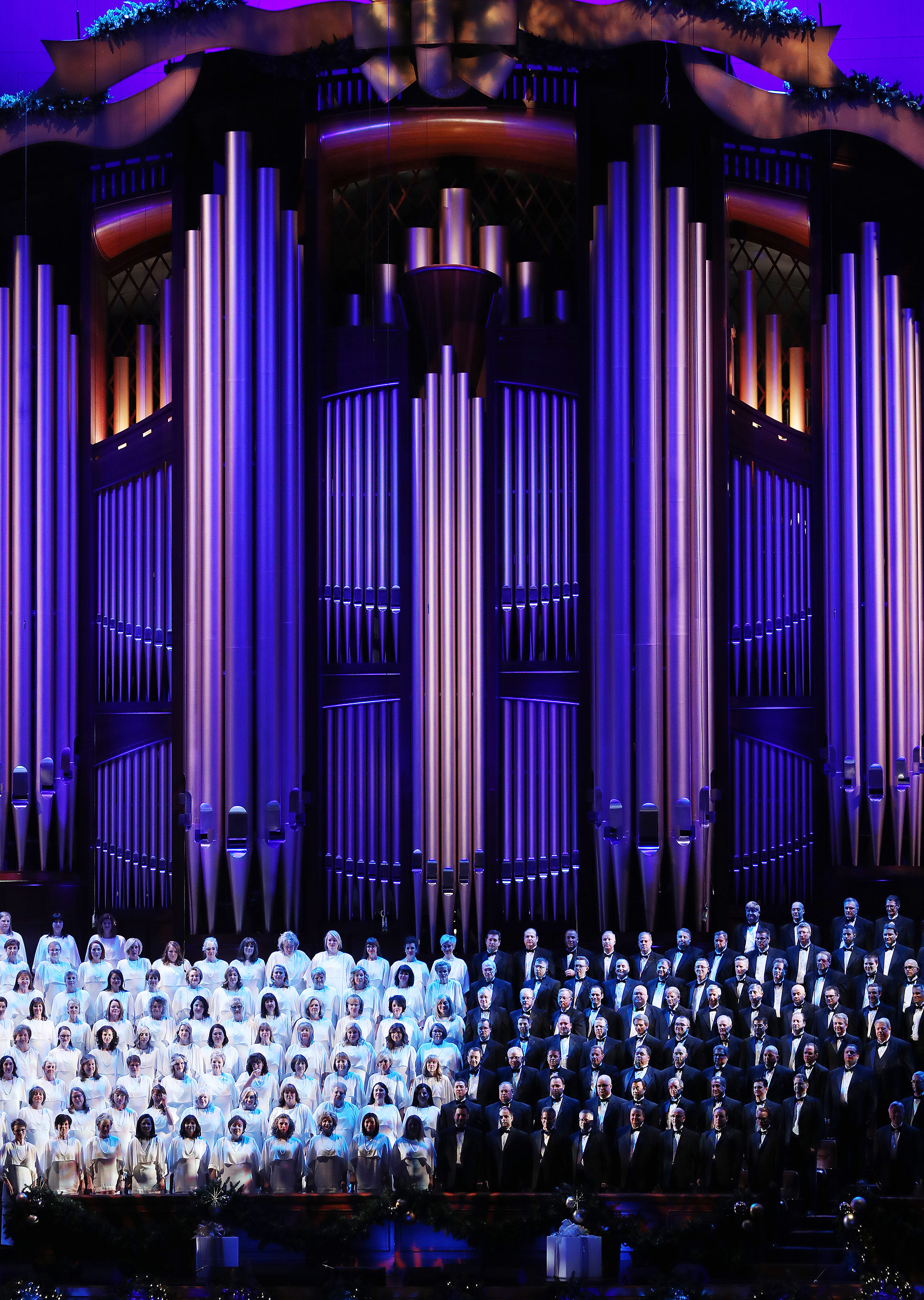 The Tabernacle Choir at Temple Square during their opening Christmas concert at the Conference Center at the Conference Center in Salt Lake City on Thursday, Dec. 13, 2018.