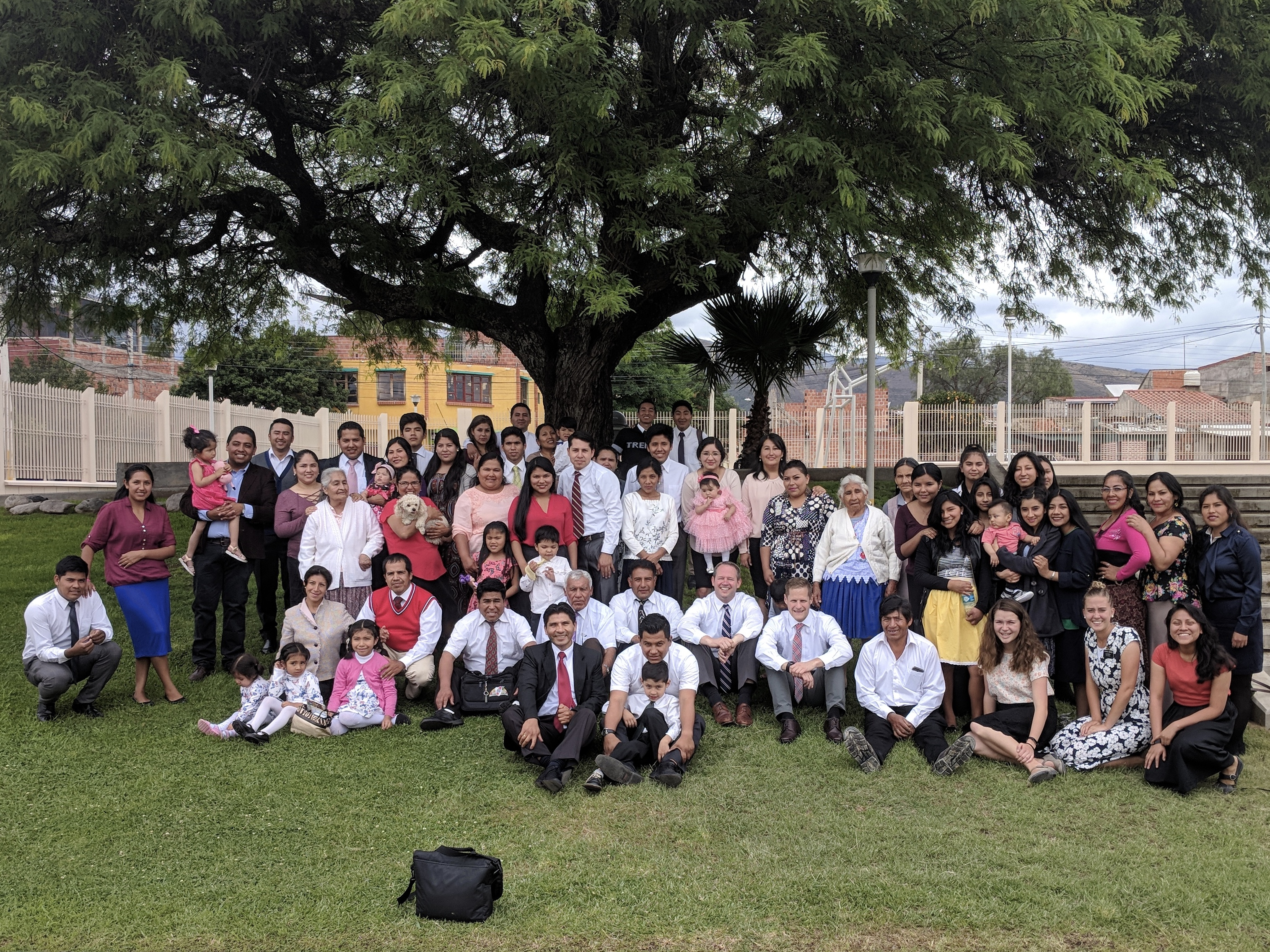 Members of the Tabladita area in Tarija Bolivia, many of whom are related to Naval Sanchez, gathered together in October when several missionaries that helped convert them some 20 years ago came to visit the area.