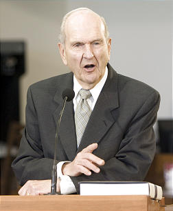 Elder Russell M. Nelson comments to reporters about the principle of revelation.