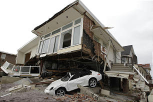 Damage done by Superstorm Sandy.