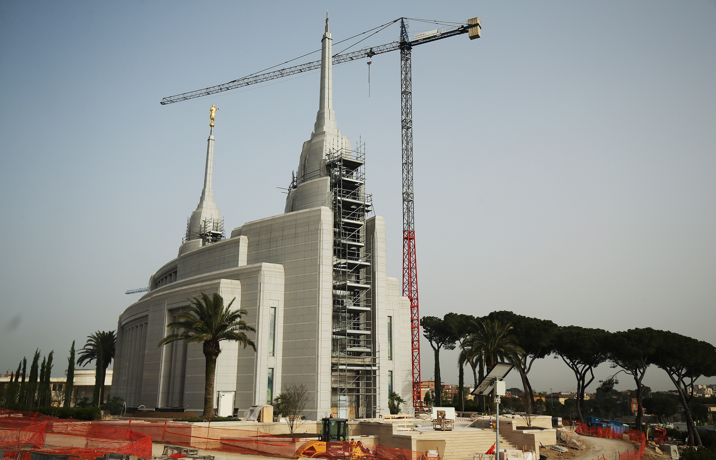 The Rome Italy LDS Temple nears completion in Rome, Italy on April 15, 2018.