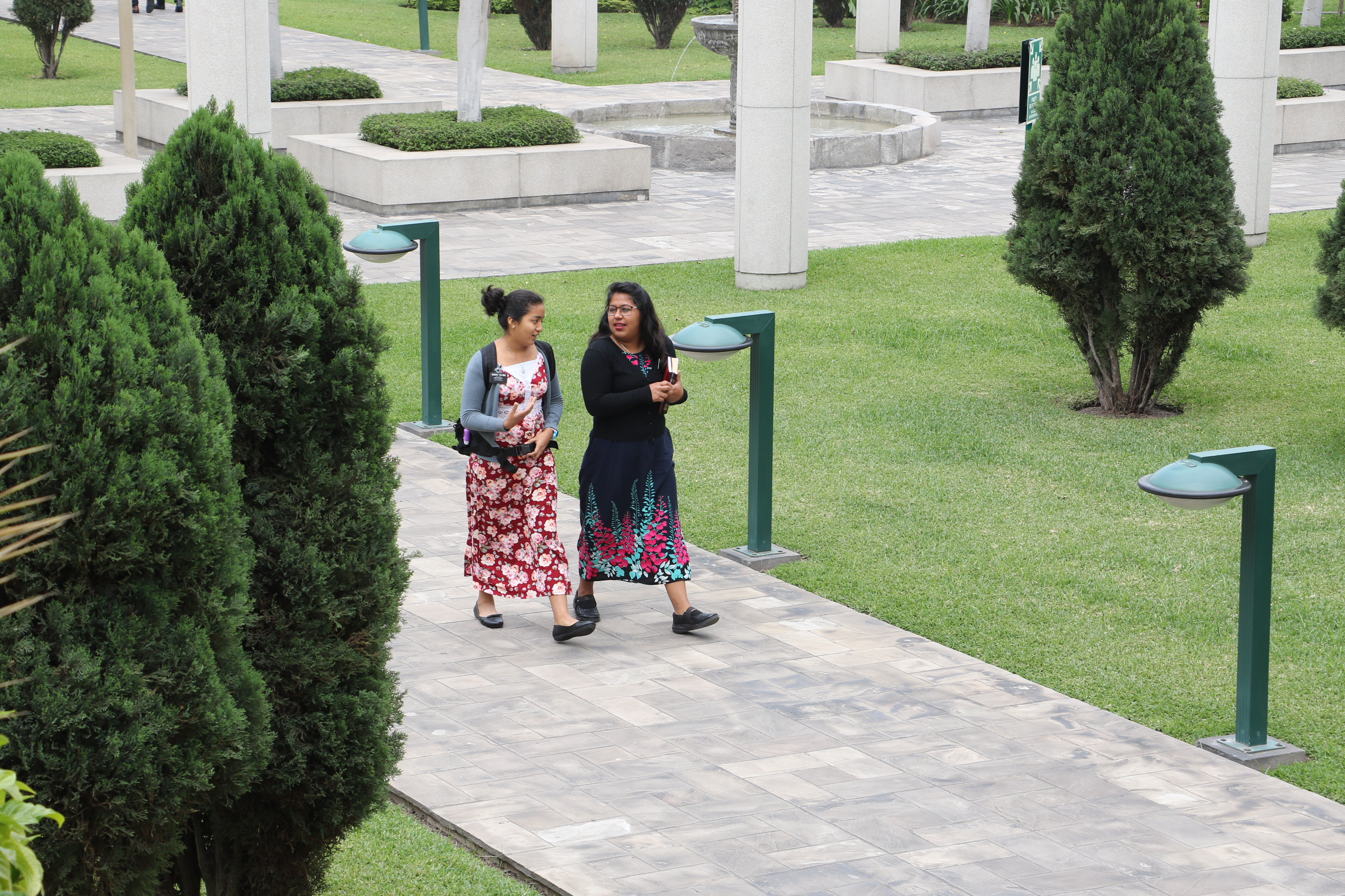 Missionaries walk across the grounds of Peru Missionary Training Center on Oct. 19, 2018. The Church of Jesus Christ of Latter-day Saints has announced the creation of four new missions and the dissolving of 12 existing missions. With these changes, announced on Jan. 2 and beginning July 1, there will be 399 missions worldwide.