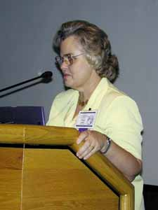 Mary E. V. Hill discusses land records during BYU's Genealogy and Family History Conference.