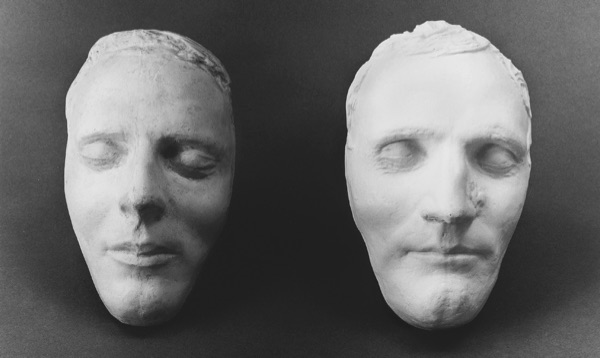 The Dibble death masks of Joseph Smith Jr., left, and Hyrum Smith, right.