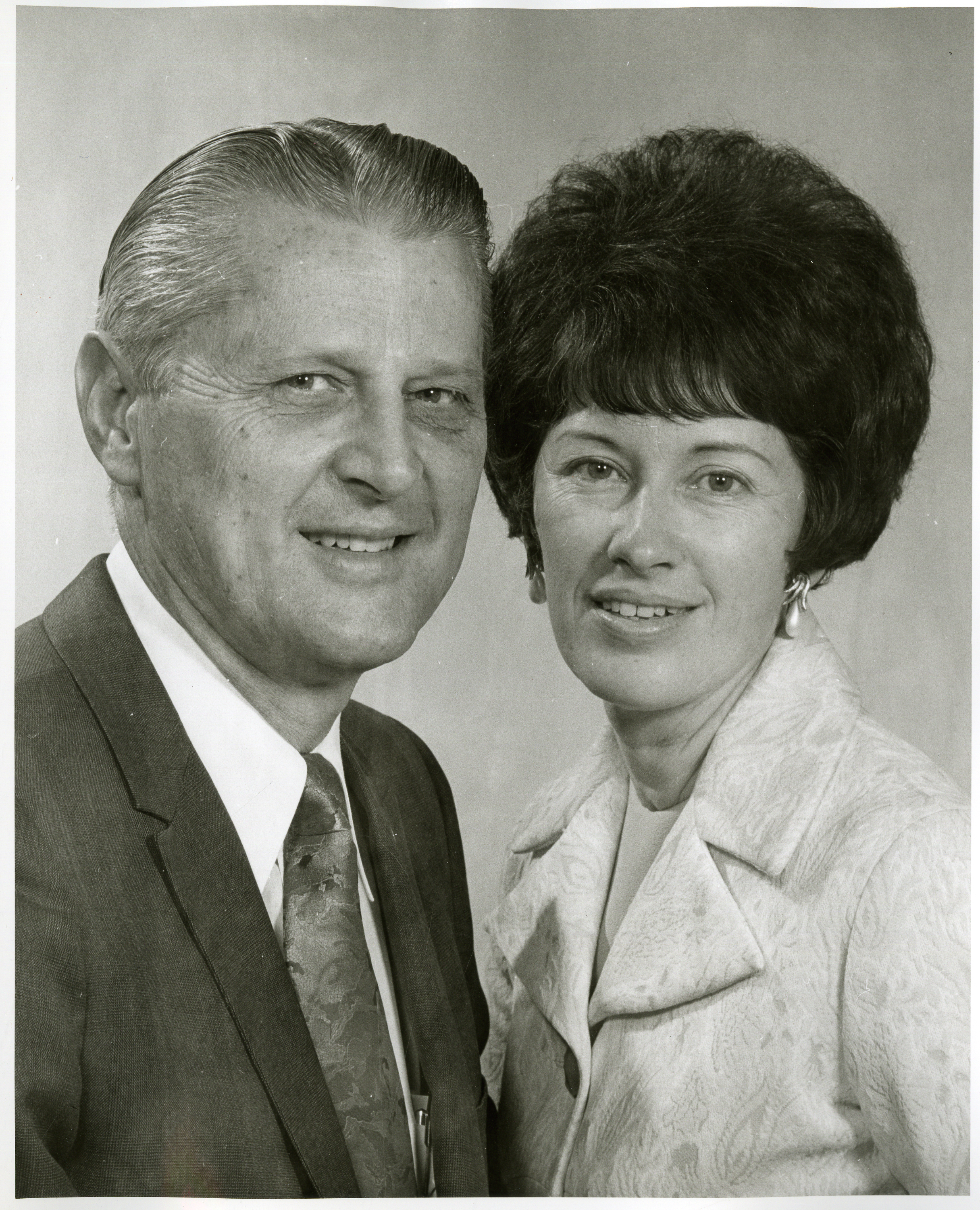 Elder H. Burke Peterson, a General Authority Seventy (1985-1993), and his wife, Sister Brookie Cardon Peterson.
