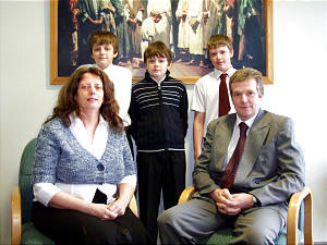 Rita Catterick, with her husband, Craig, and their three sons were heartily welcomed when they attended the first week.
