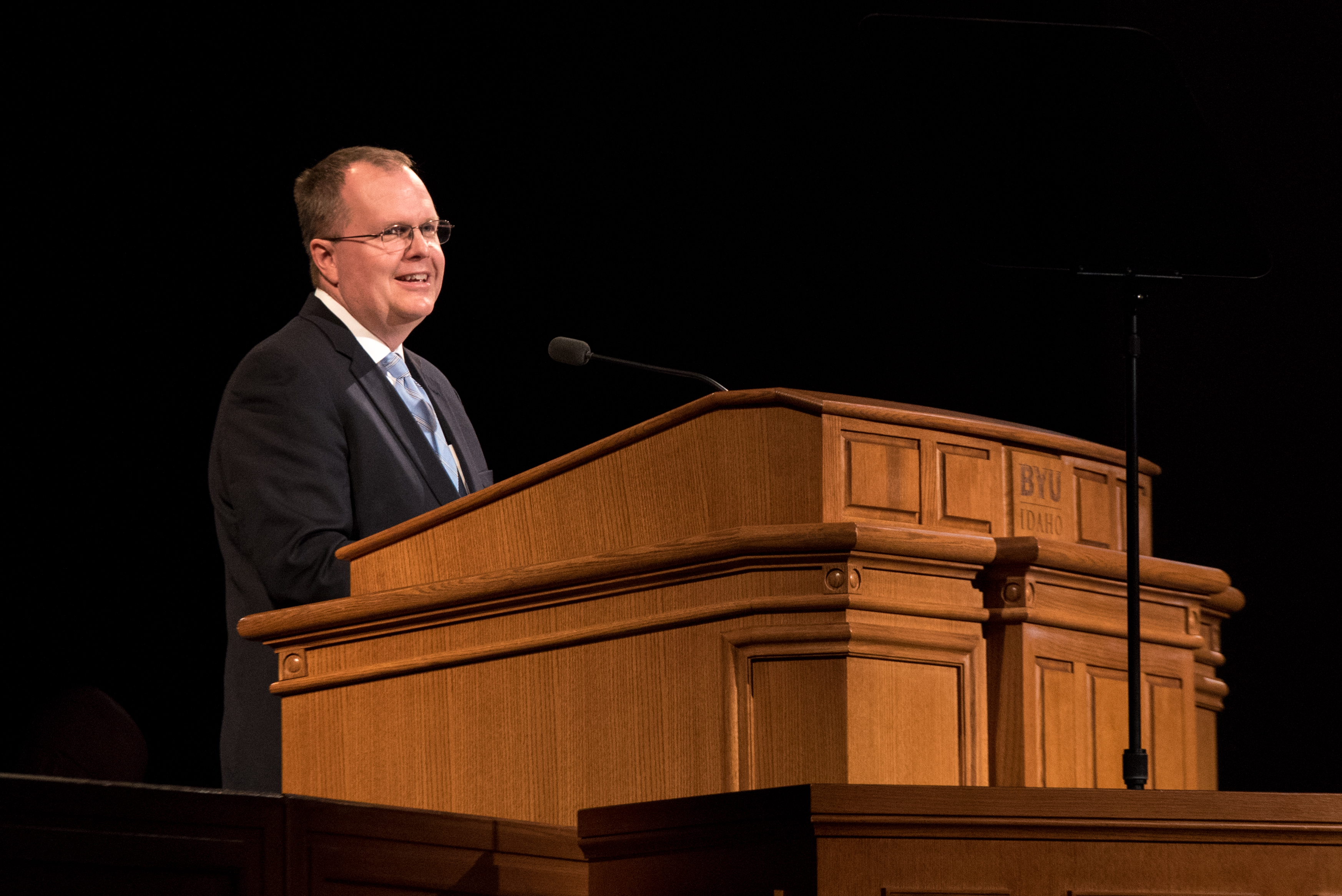 Brother Brian K. Ashton, second counselor in the Sunday School general presidency, speaks at a BYU Idaho devotional on Feb. 12.