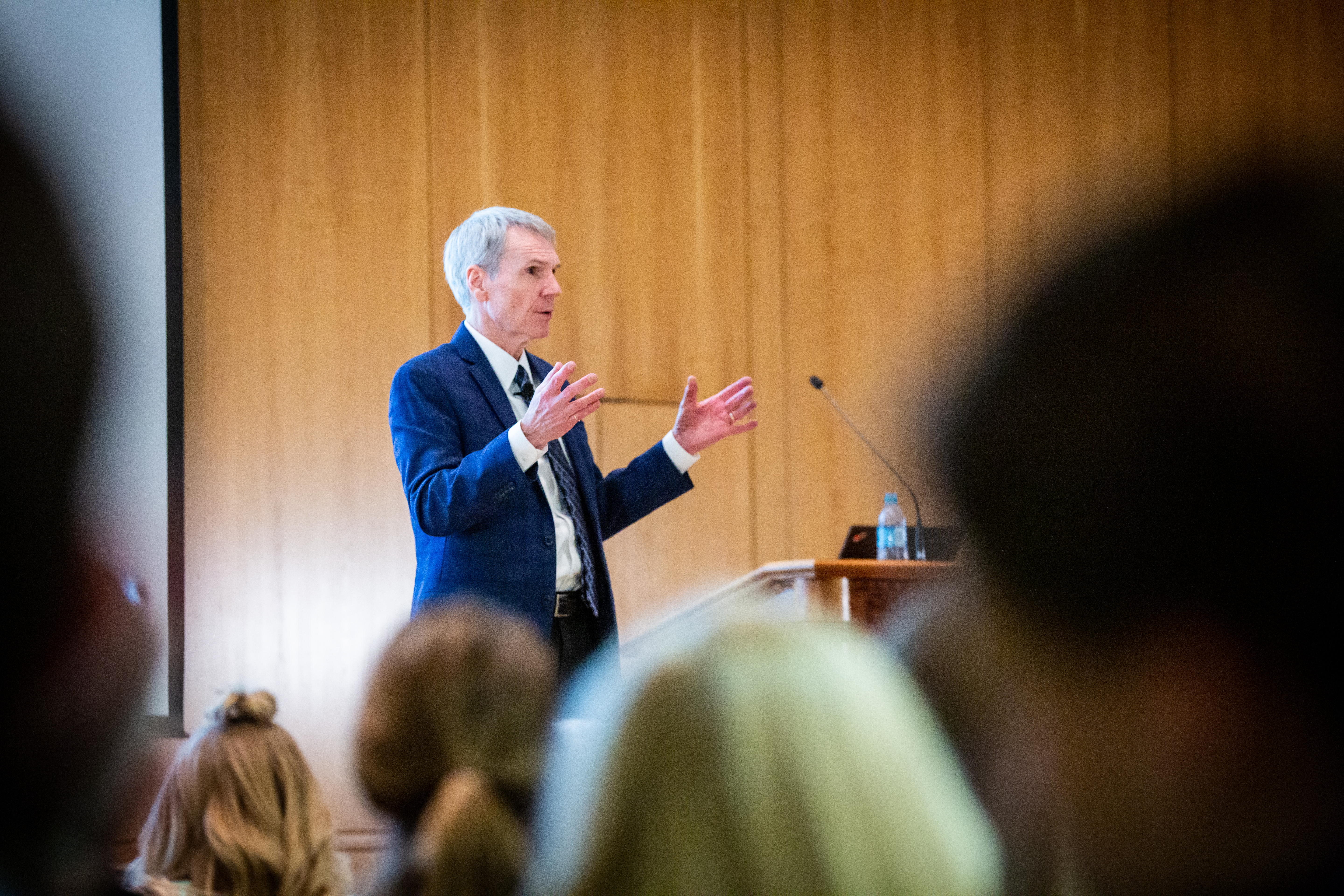 Dr. Scott Stanley of the University of Denver speaks to students, alumni and faculty during the 15th Annual Marjorie Pay Hinckley Lecture on Feb. 7, 2019 on the BYU Provo, Utah campus.