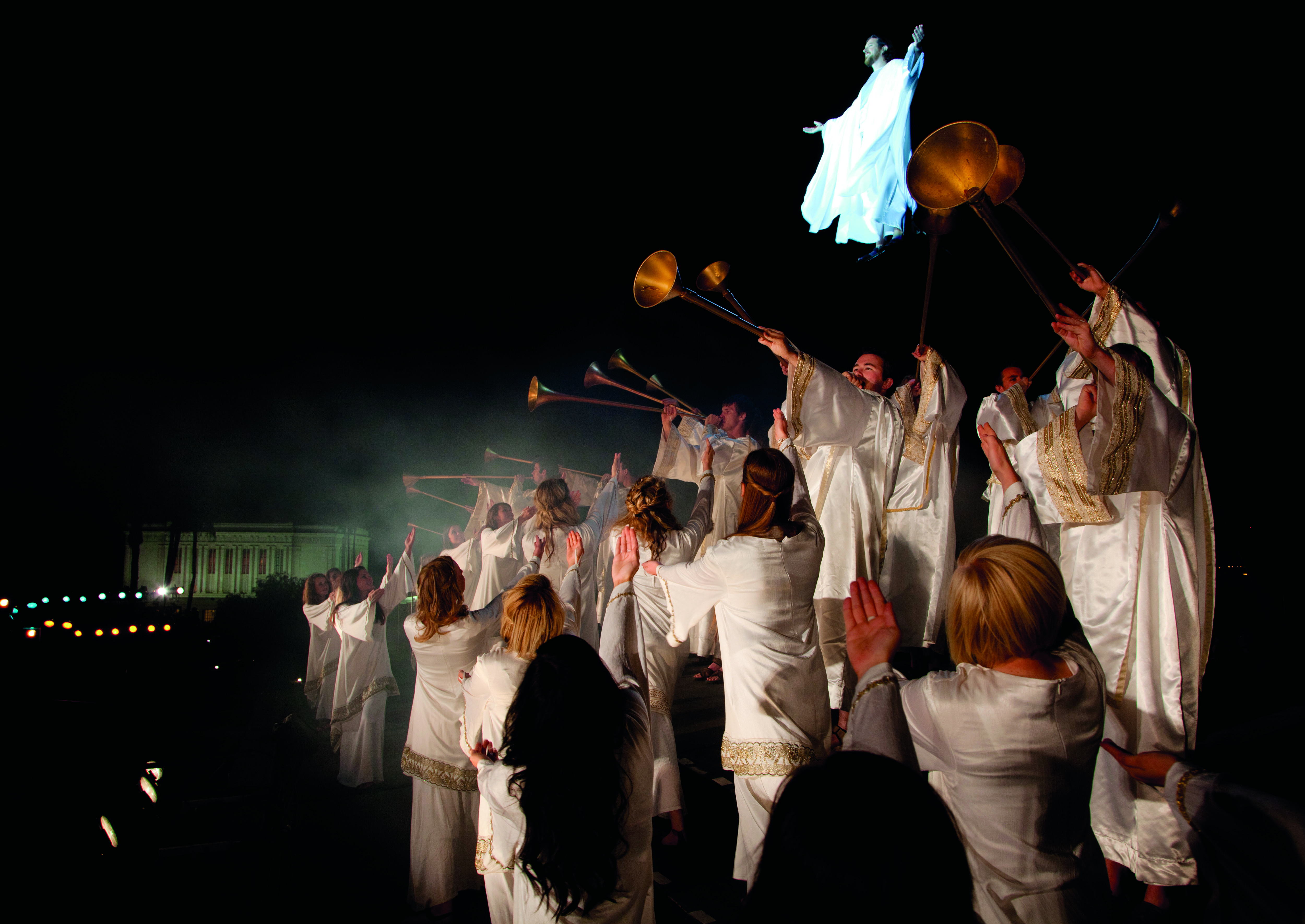 The Mesa Easter Pageant tells the story of Jesus Christ's birth, ministry, death and miraculous Resurrection through music, dance and drama.