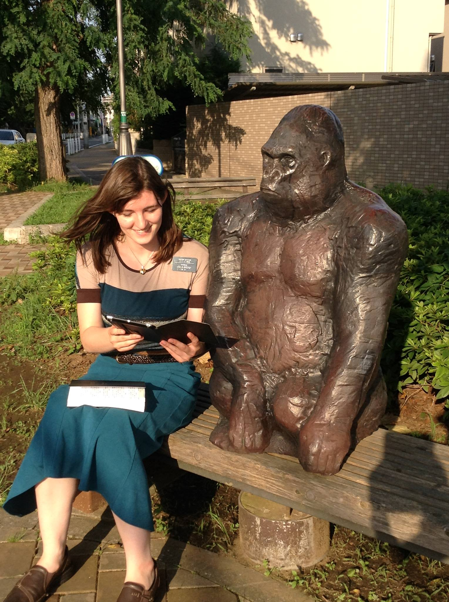 "Anna Savage Hodge enjoys a light-hearted ""teaching moment"" during her missionary service in Tokyo, Japan. The lifelong member would later graduate from Army Ranger School."