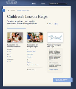 Friend online resources: New materials for parents and