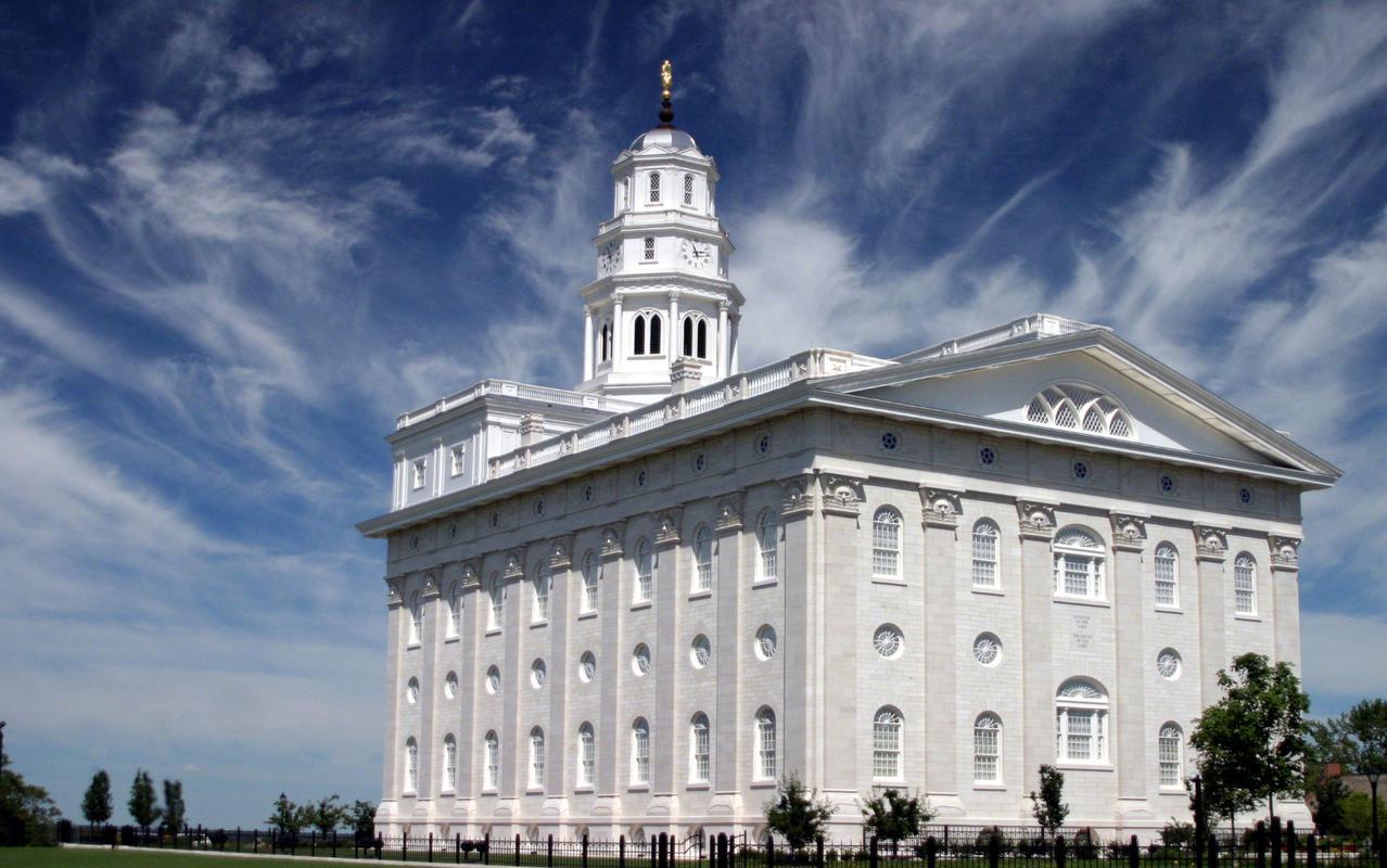 Originally dedicated in 1846, the Nauvoo Temple was rededicated June 27, 2002.