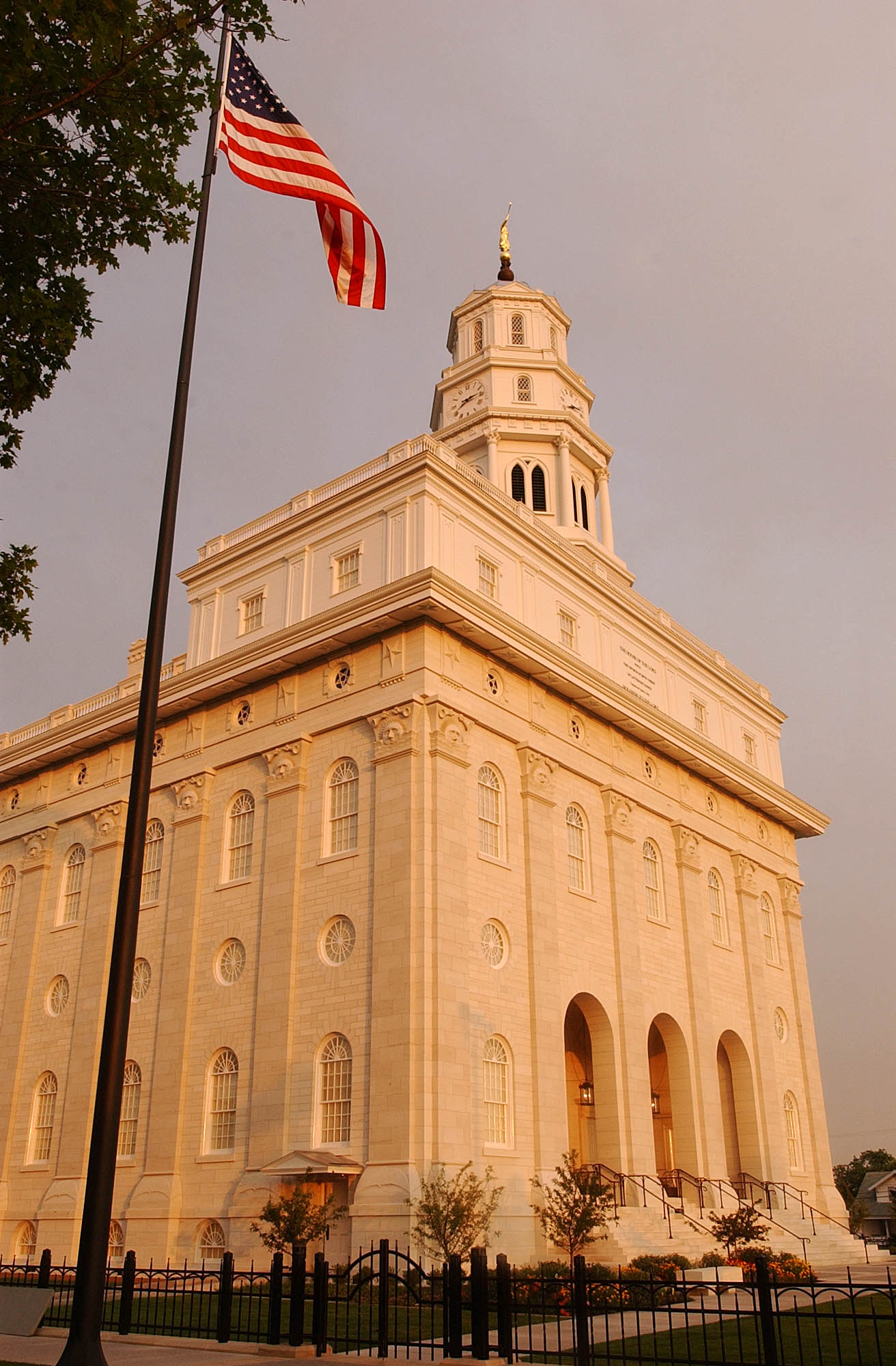 President Gordon B. Hinckley dedicated the reconstructed Nauvoo Illinois Temple; he presided over 13 sessions June 27-30, 2002.