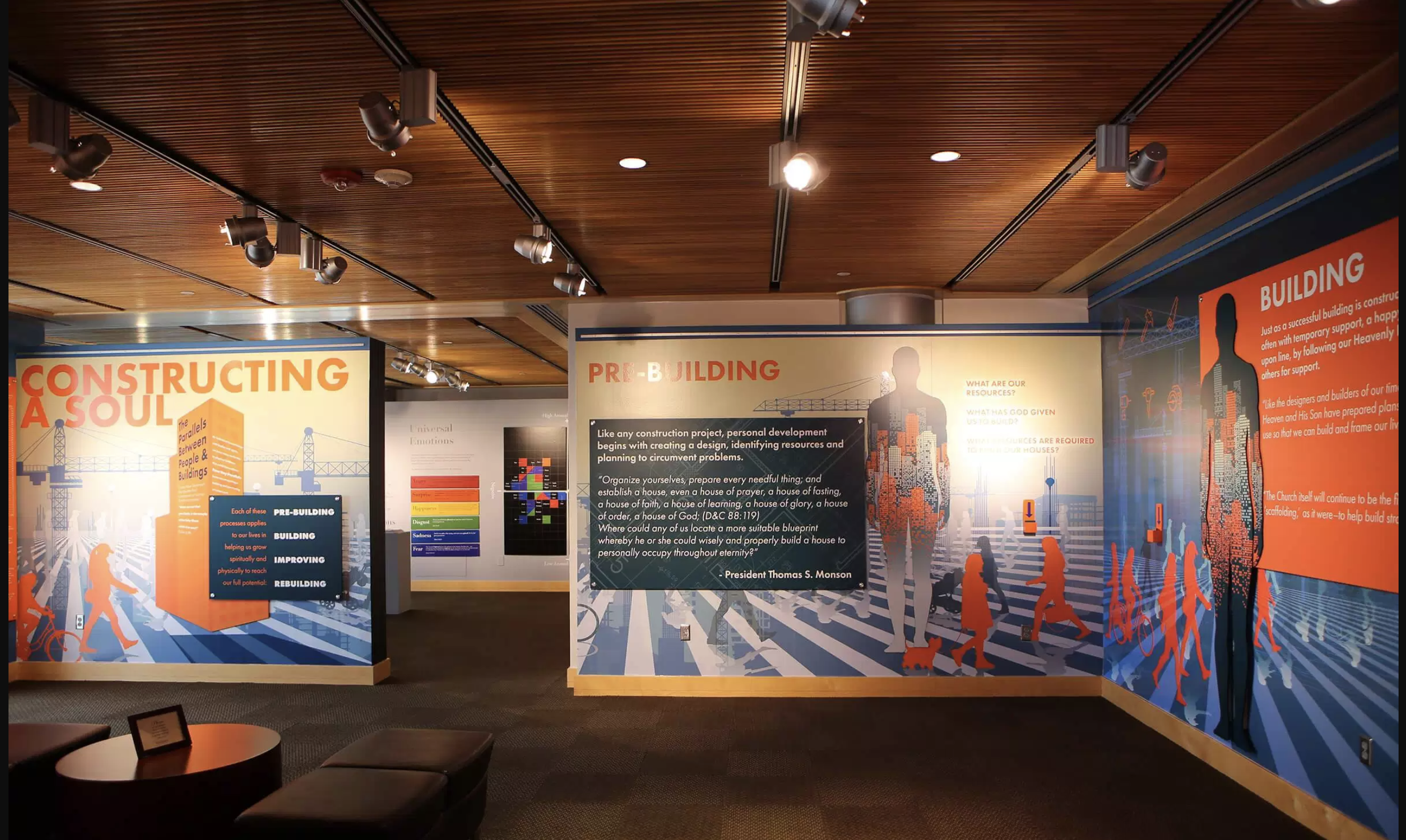 """The recently-opened """"Constructing a Soul"""" exhibition at Brigham Young University explores the many parallels between constructing and maintaining a building -- and """"rebuilding"""" an improving one's own life."""