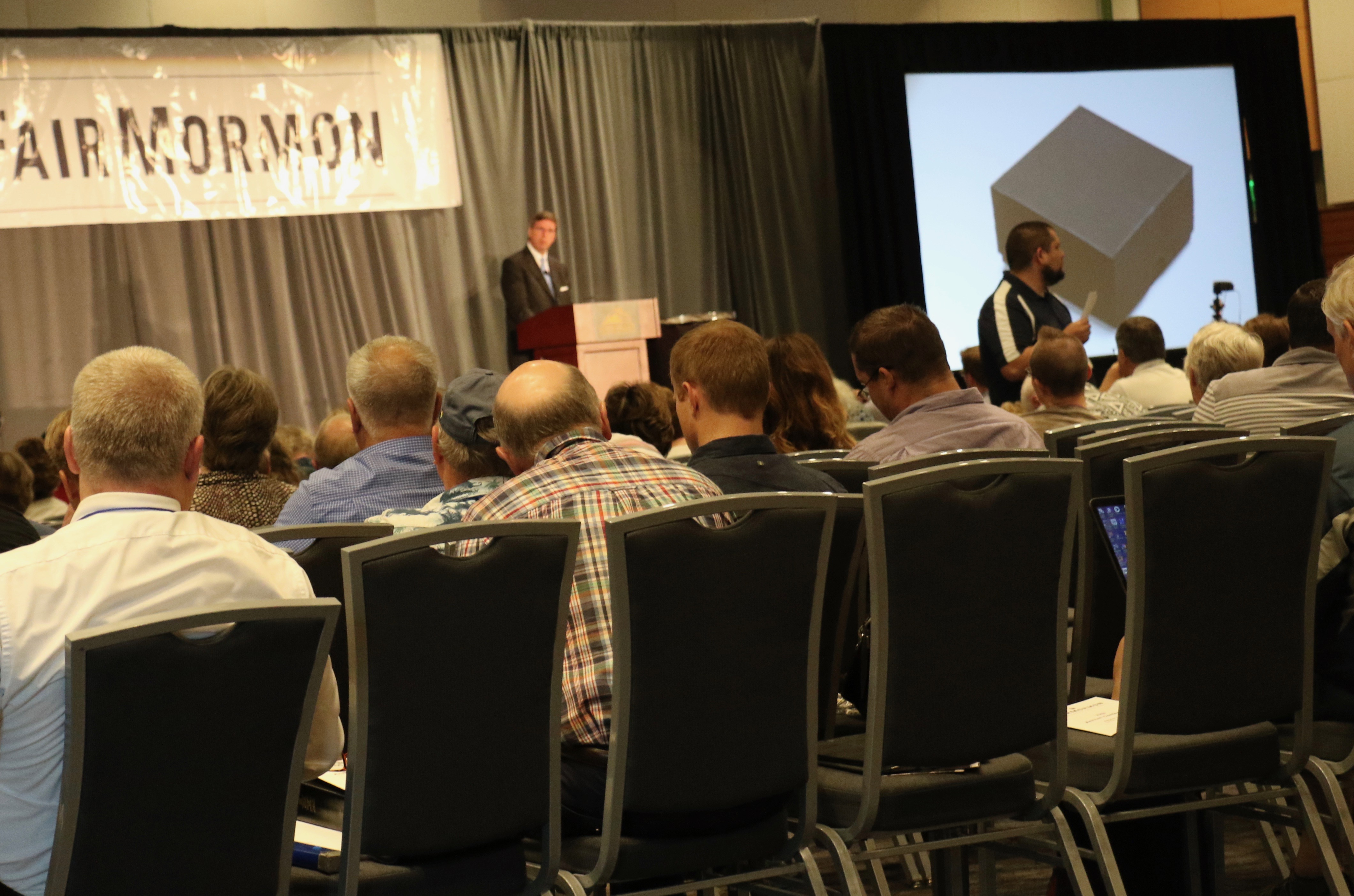 Hundreds of FairMormon Conference attendees listen to Elder Kevin W. Pearson's Aug. 3, 2018, counsel on utilizing individual social media platforms to share the gospel.
